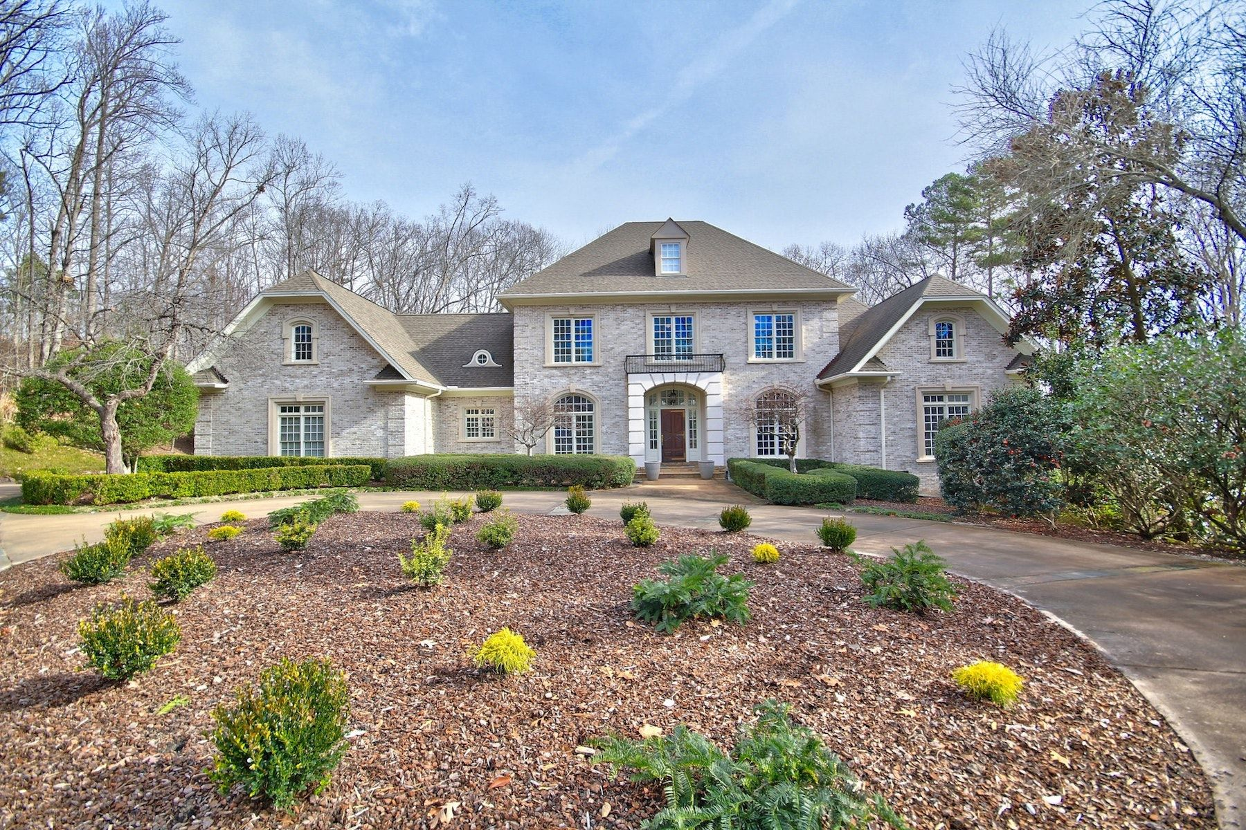 Single Family Homes for Sale at Stunnning French Provincial Estate in Governors Club 24203 Cherry Chapel Hill, North Carolina 27517 United States