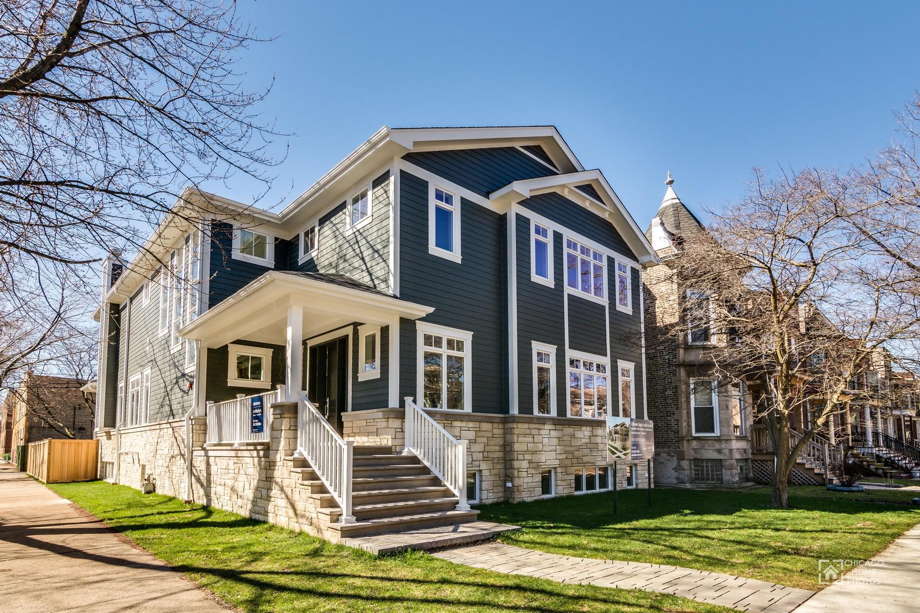 Tek Ailelik Ev için Satış at Gorgeous New Construction on Rare Corner Lot 3750 N Hoyne Avenue Chicago, Illinois, 60618 Amerika Birleşik Devletleri