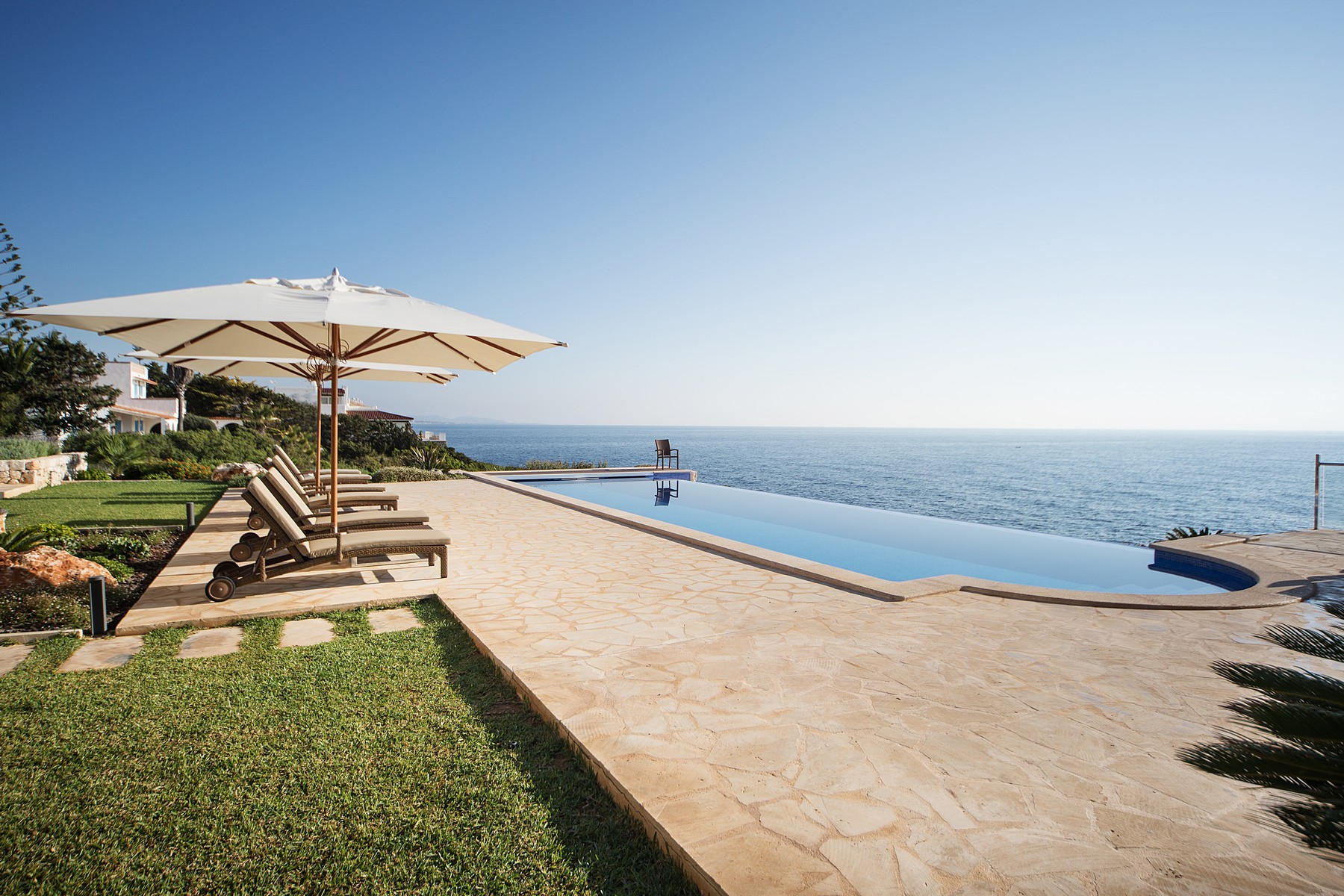 Single Family Home for Rent at Newly built seafront villa in Cala Murada Manacor, Balearic Islands, Spain
