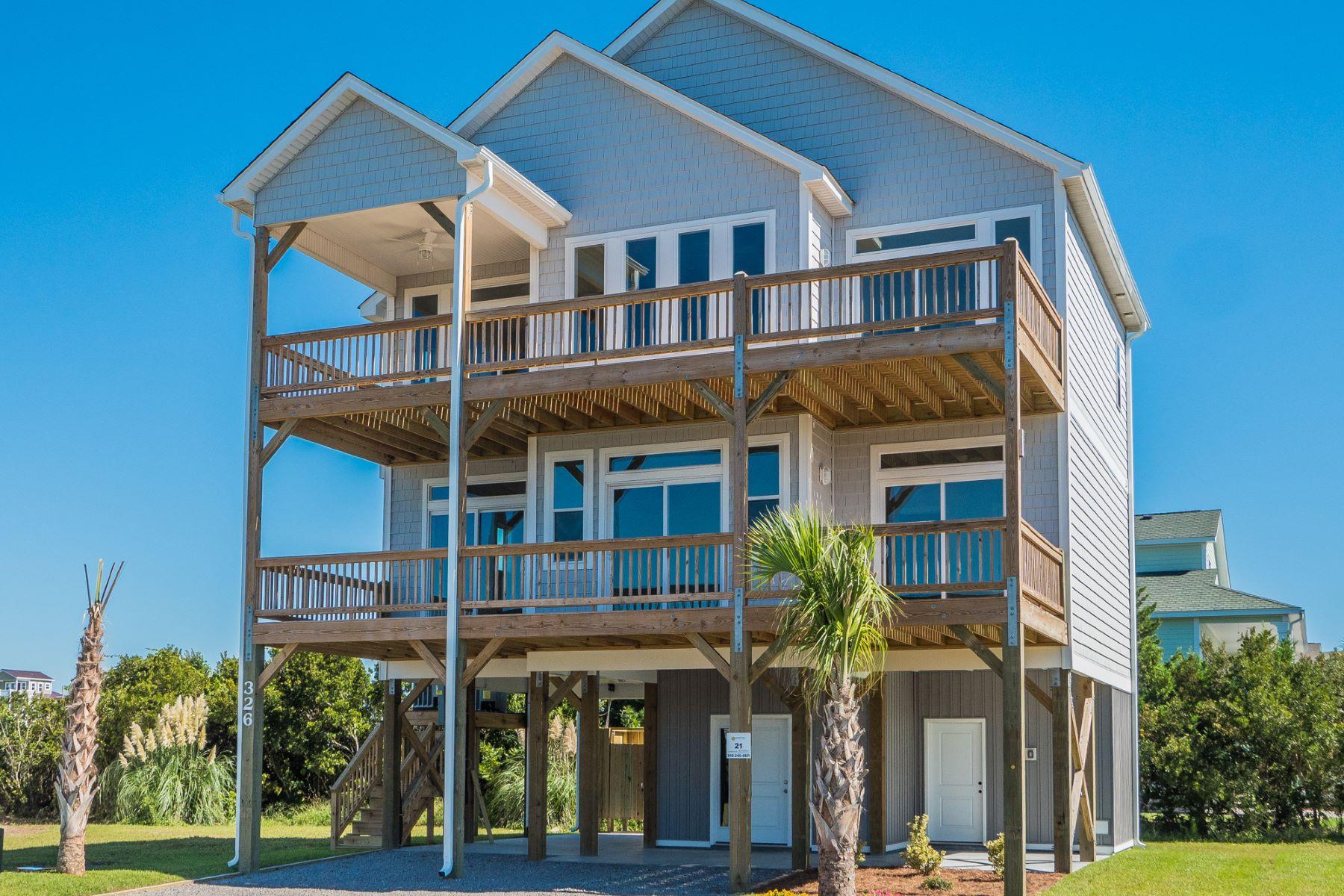 واحد منزل الأسرة للـ Sale في Exceptional Newly Constructed Waterfront Home 316 Oceanaire Ln, Surf City, North Carolina, 28445 United States