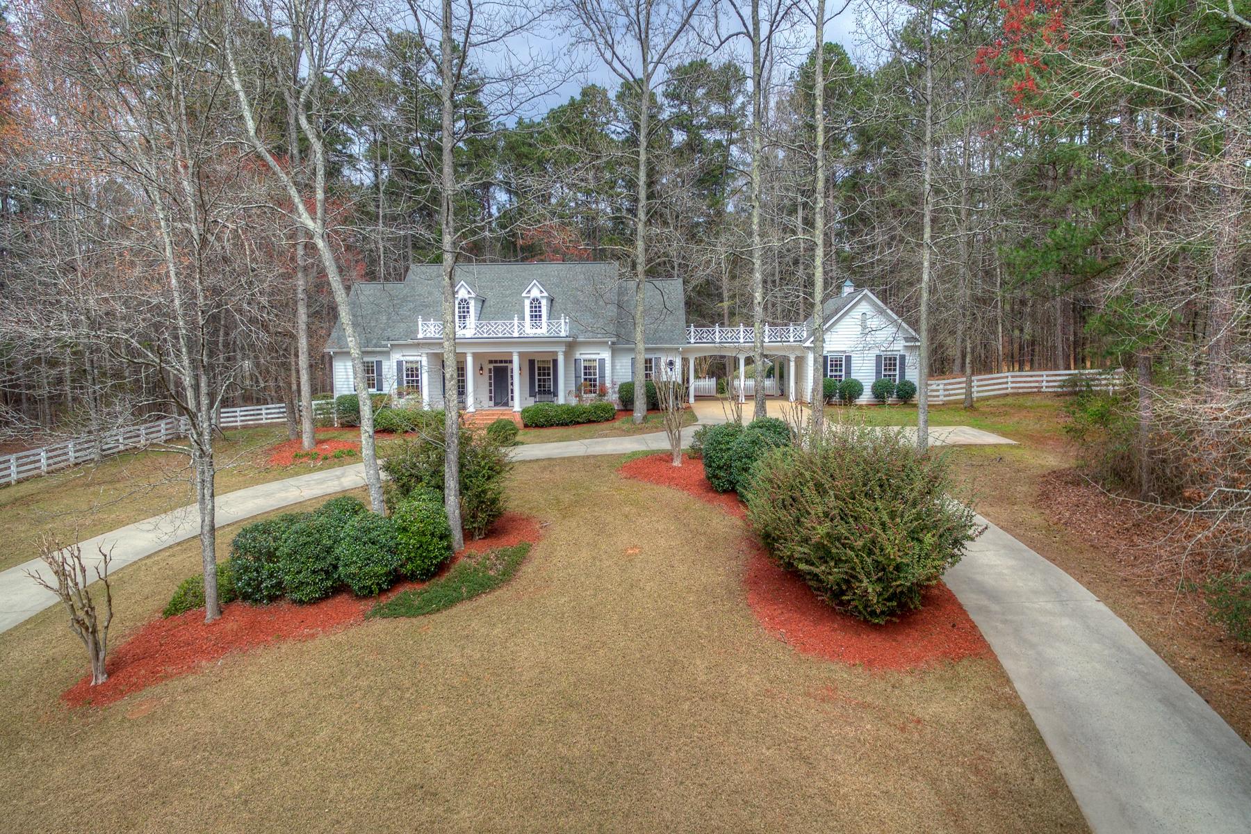 Μονοκατοικία για την Πώληση στο Classic Southern Home and Equestrian Farm 307 Happy Valley Circle Newnan, Γεωργια 30263 Ηνωμενεσ Πολιτειεσ