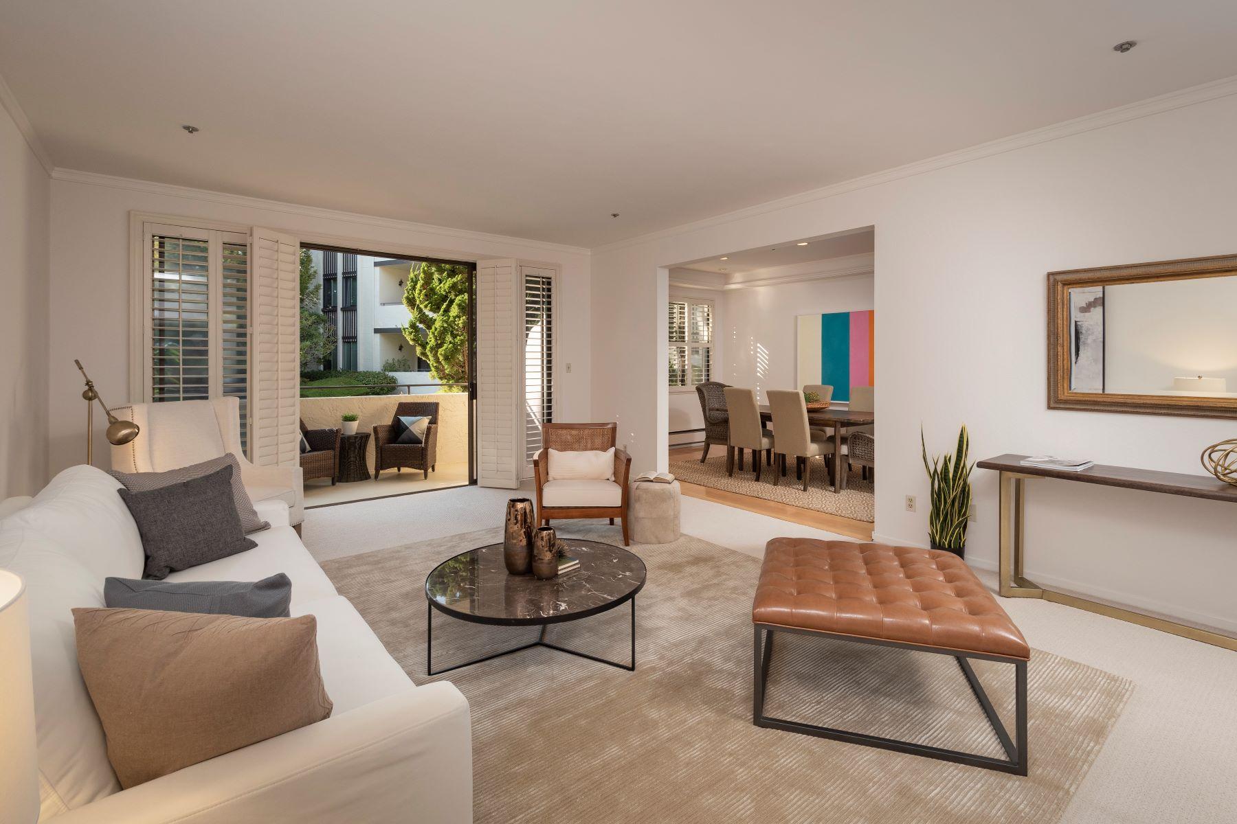 Condominiums for Sale at Spacious Condo in Elegant, Prestigious Complex 1515 Floribunda Avenue #110 Burlingame, California 94010 United States