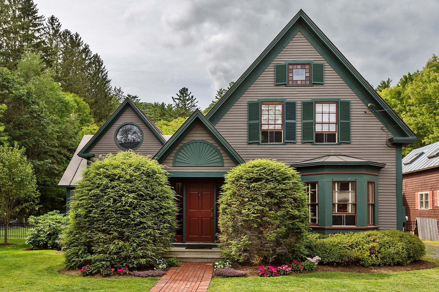 Single Family Homes for Sale at Historic Woodstock Village Home 13 River Street Woodstock, Vermont 05091 United States