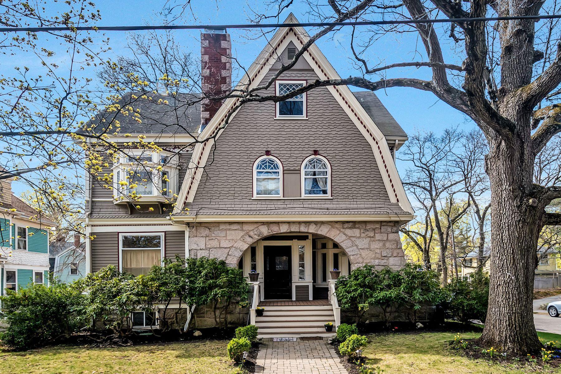 Single Family Home for Sale at 1008 Beacon Street, Newton Newton, Massachusetts 02459 United States