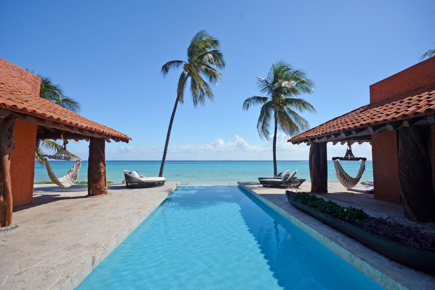 Single Family Homes 용 매매 에 Casa Corazon Arrecife Xaman Ha Avenue, Playacar, Phase I Playa Del Carmen, Quintana Roo 77713 멕시코