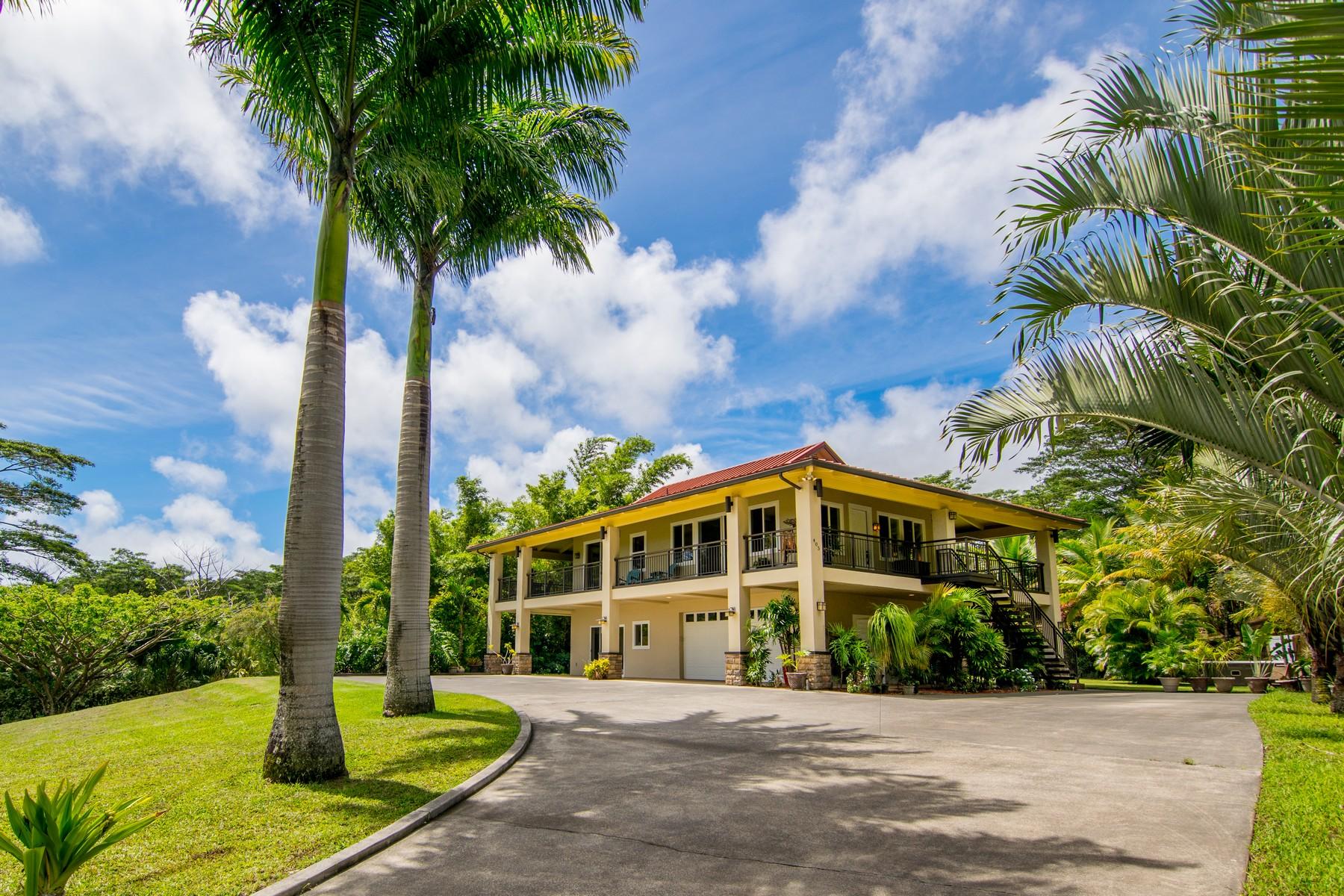 Частный односемейный дом для того Продажа на Hilltop Estate with Views 405 E Kuiaha Road Haiku, Гавайи, 96708 Соединенные Штаты