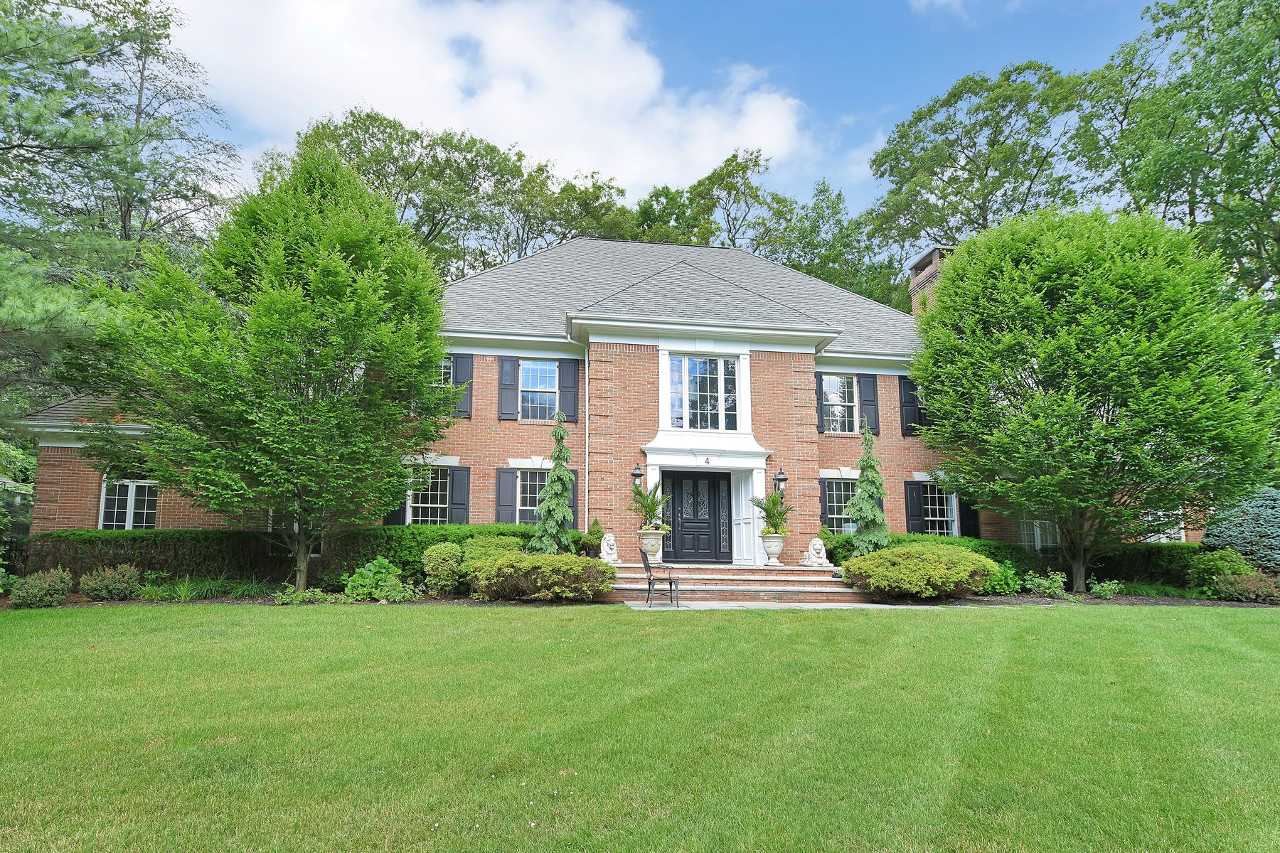 Single Family Homes for Sale at Colonial Manor 4 Deer Trail Franklin Lakes, New Jersey 07417 United States
