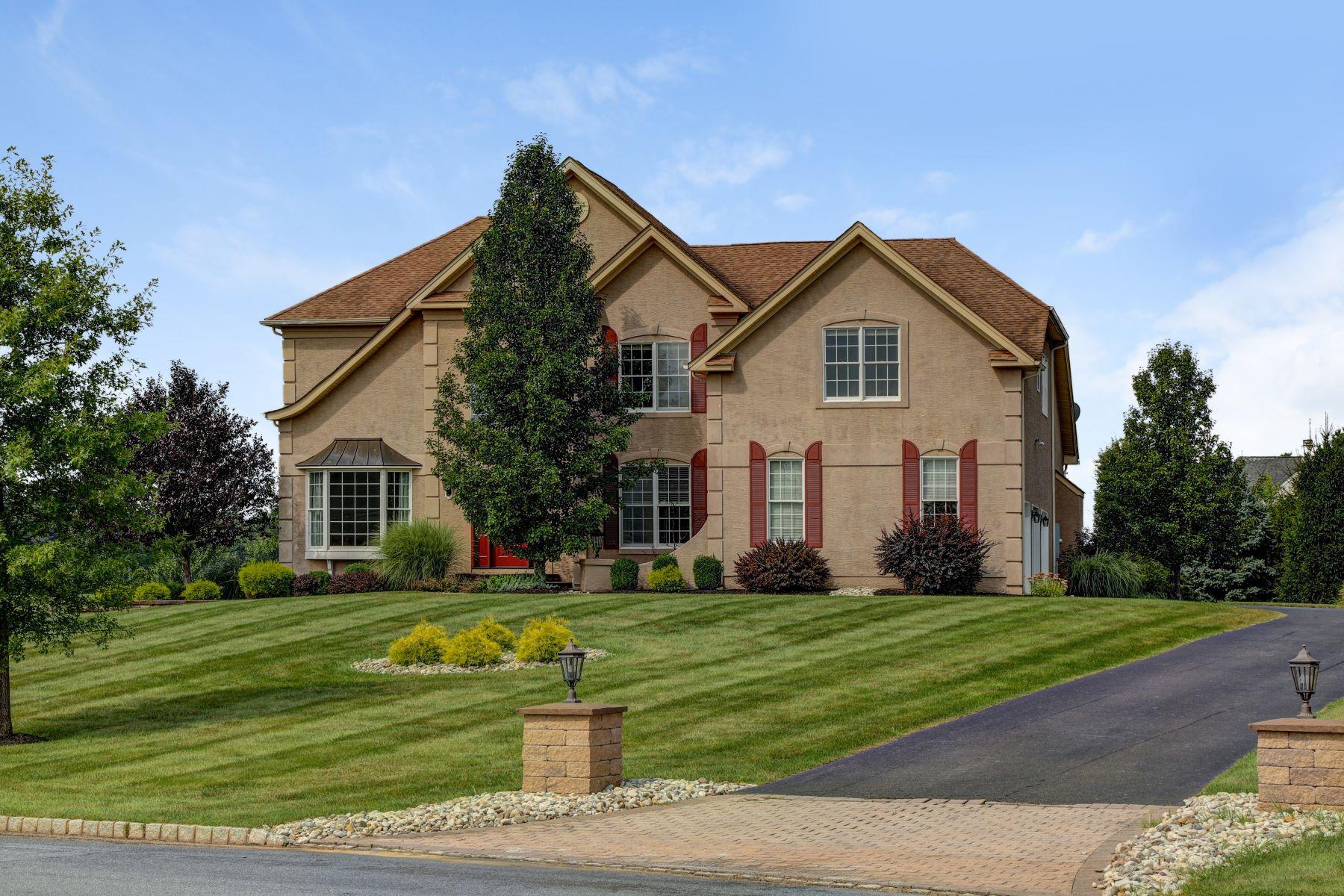 Single Family Homes för Försäljning vid Stately Colonial 58 Balmoral Drive, Alexandria Township, New Jersey 08867 Förenta staterna