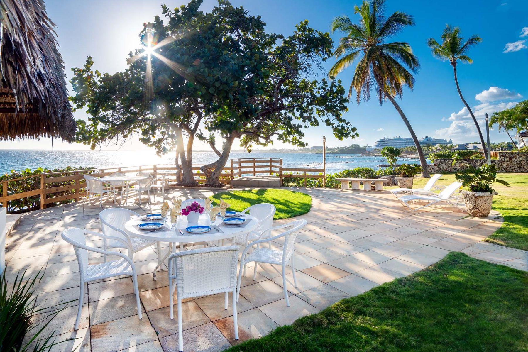 Single Family Homes for Sale at Punta Aguila # 4 - Oceanfront Casa Estate Casa De Campo, La Romana Dominican Republic