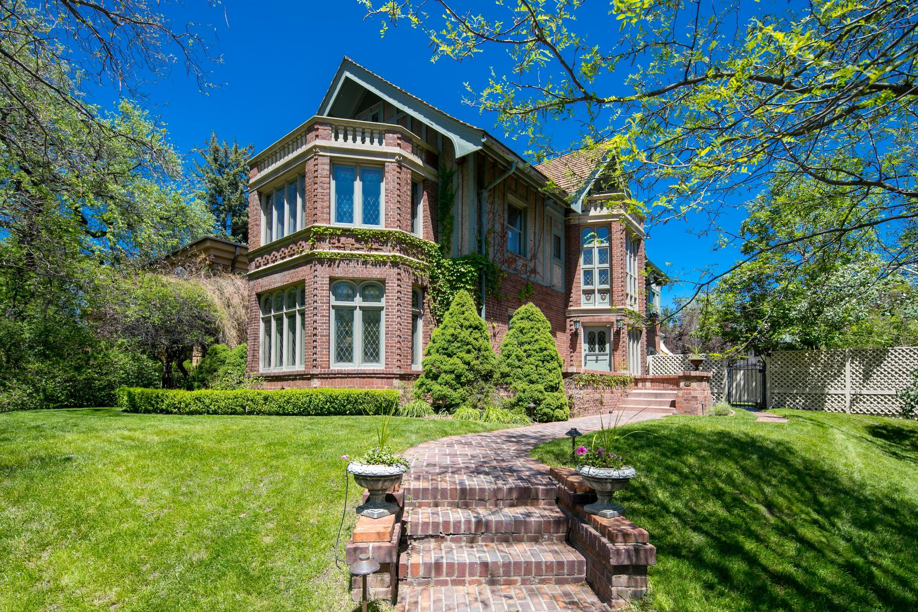 Single Family Homes for Sale at Storybook Tudor Combines Old World Elegance & European Renovation 120 N Humboldt Street Denver, Colorado 80218 United States