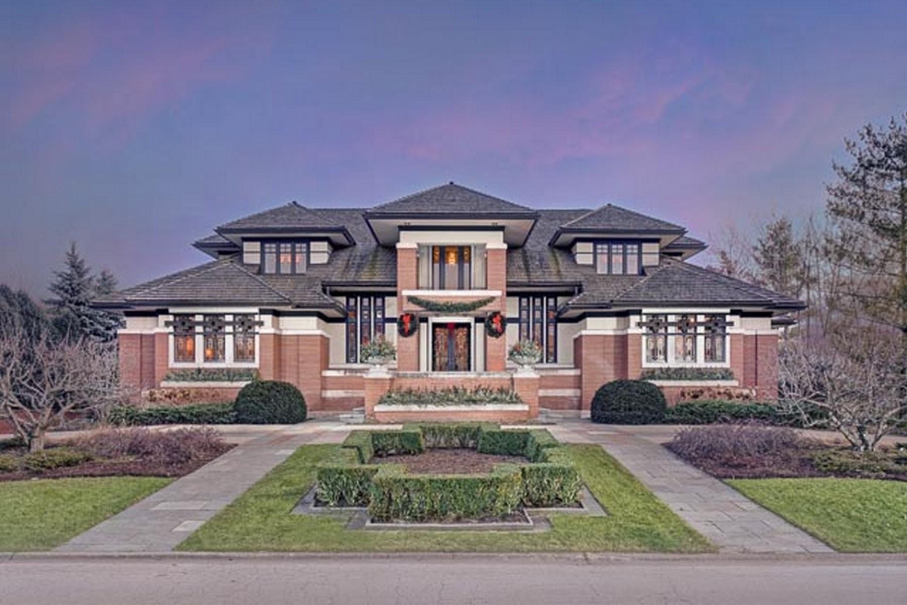 Частный односемейный дом для того Продажа на Spectacular Frank Lloyd Wright inspired Home 111 Singletree Road Orland Park, Иллинойс 60467 Соединенные Штаты