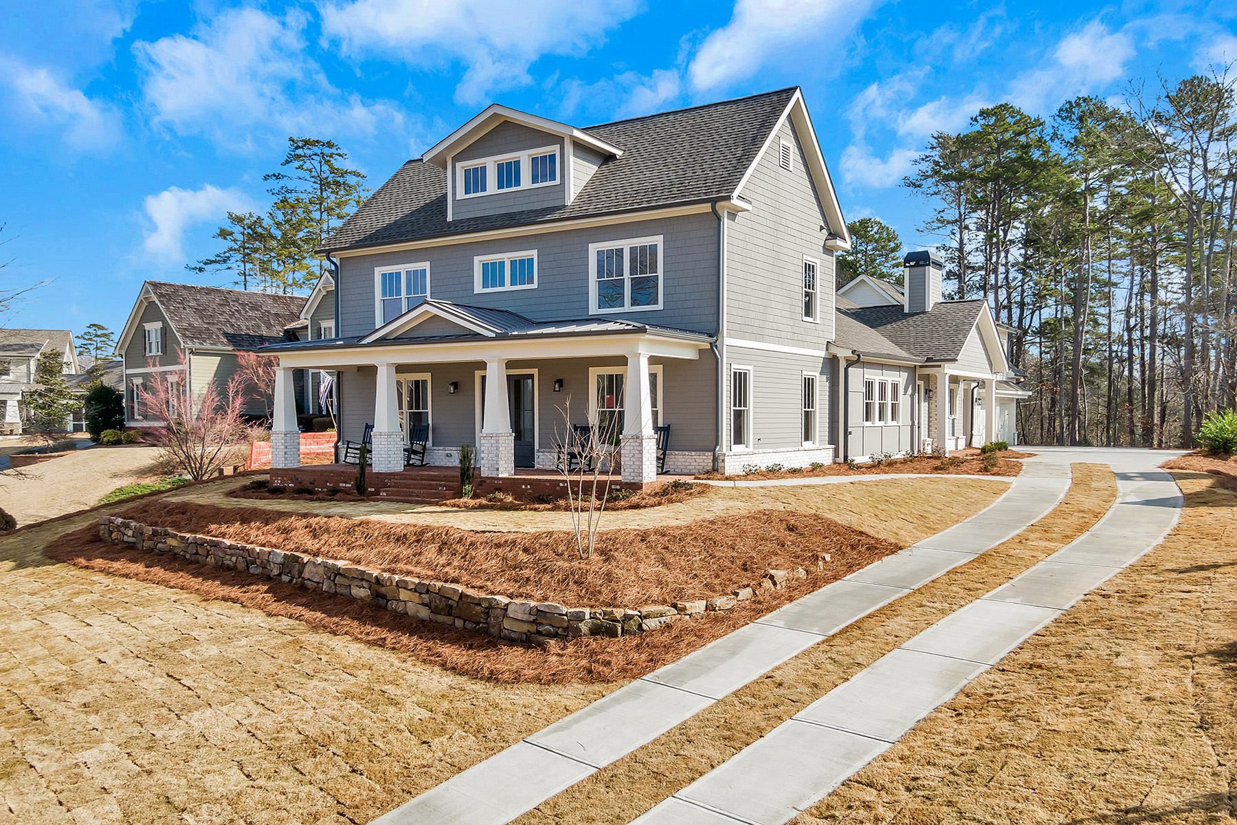 Single Family Homes for Active at Stunning Craftsman-style new construction in Chestatee 24 Fieldstone Court Dawsonville, Georgia 30534 United States
