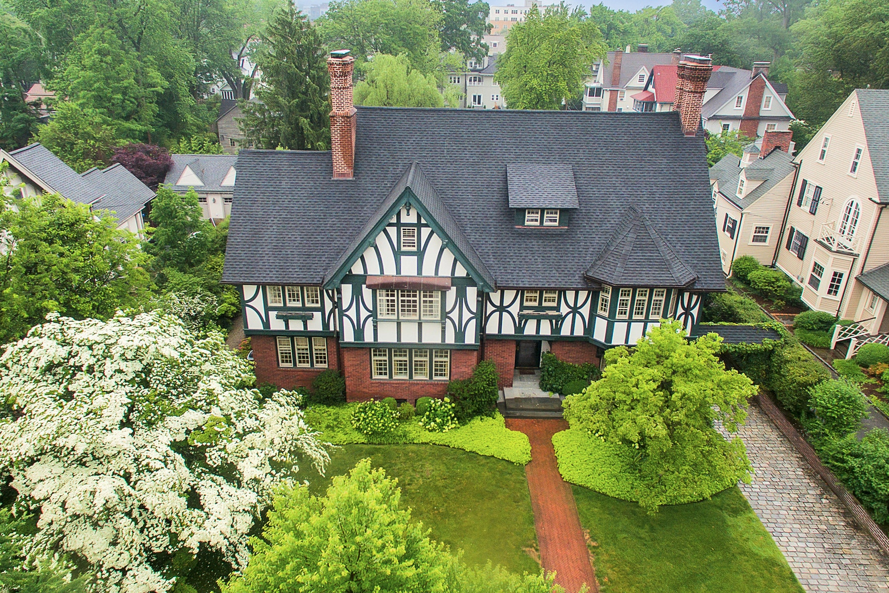Single Family Homes for Sale at Stunning, Grand Tudor 105 Union Street Montclair, New Jersey 07042 United States