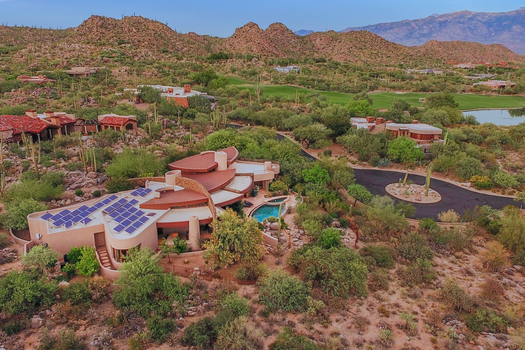 Single Family Homes for Sale at Dramatic & Timeless Contemporary 14435 N Travertine Place Oro Valley, Arizona 85755 United States