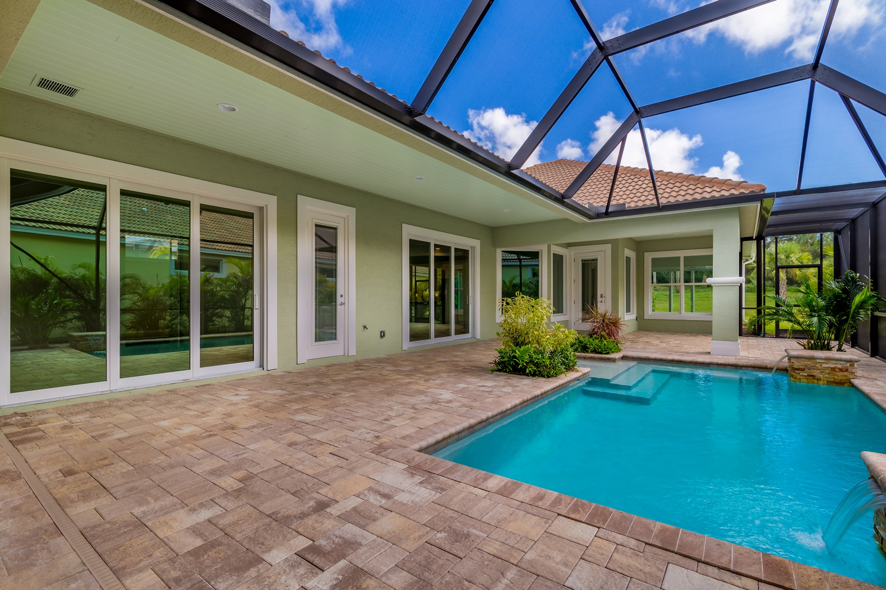 Single Family Home for Sale at Private Courtyard Pool Home 2135 Falls Circle Vero Beach, Florida 32963 United States