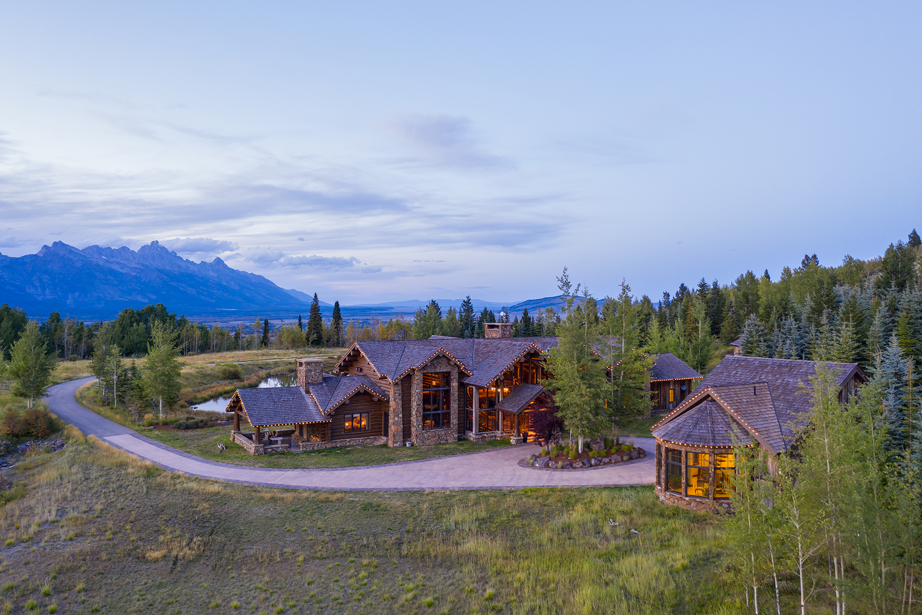Single Family Homes for Active at Riva Ridge Retreat, Residence of Western Grandeur 3000 Riva Ridge Road Jackson, Wyoming 83001 United States