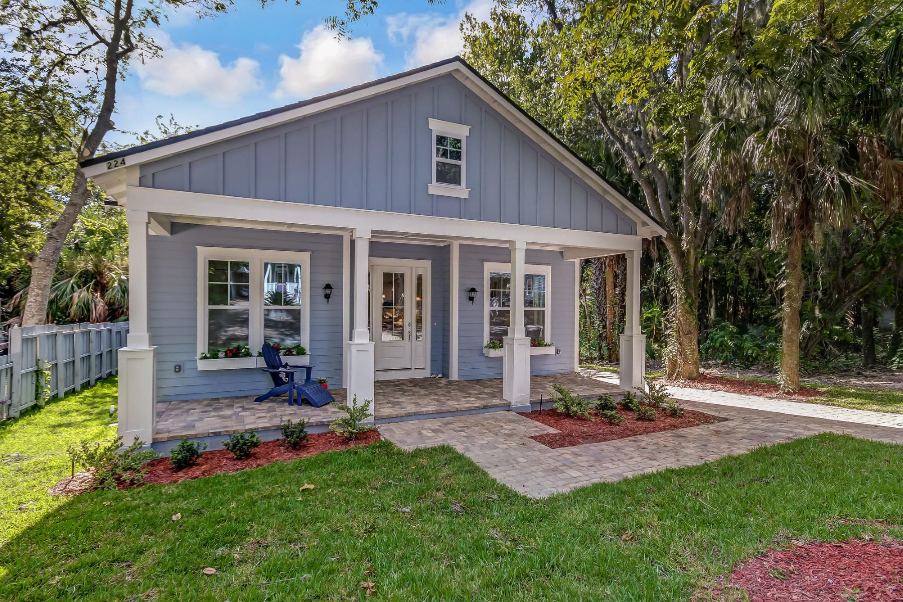 Single Family Home for Sale at Craftsman-style Bungalow in the Heart of Downtown Fernandina Beach 224 North 6th Street Fernandina Beach, Florida 32034 United States