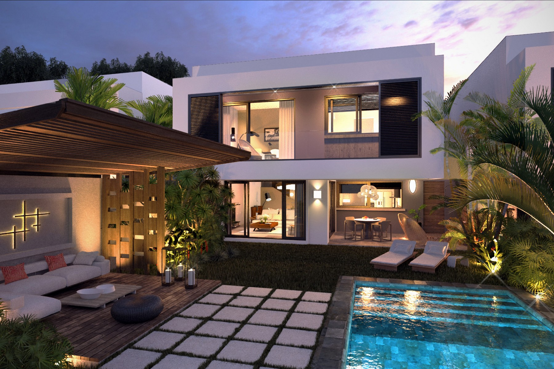 townhouses for Sale at Sunset Luxury Villa, Bel Air Balaclava, Pamplemousses Mauritius