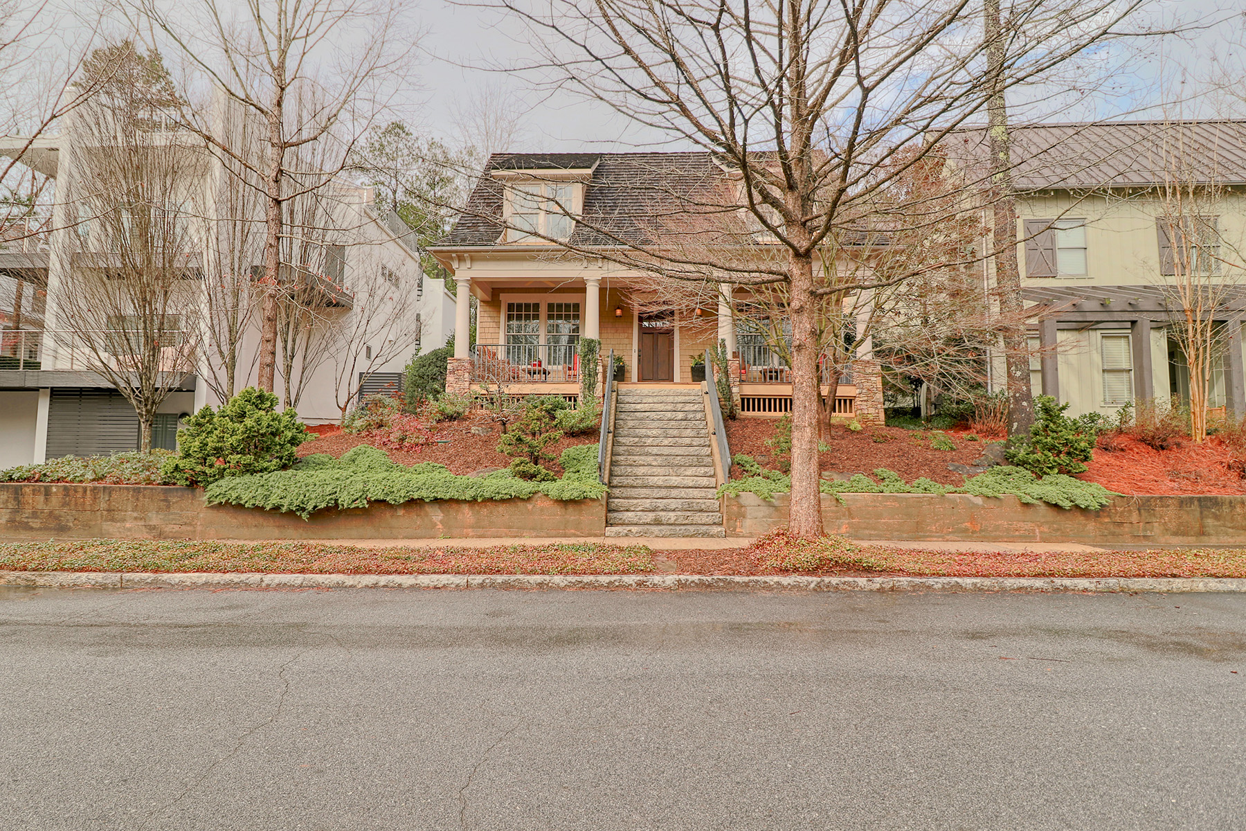 Single Family Homes for Active at Craftsman Style Home in Original Section of Serenbe Community 9048 Selborne Lane Chattahoochee Hills, Georgia 30268 United States