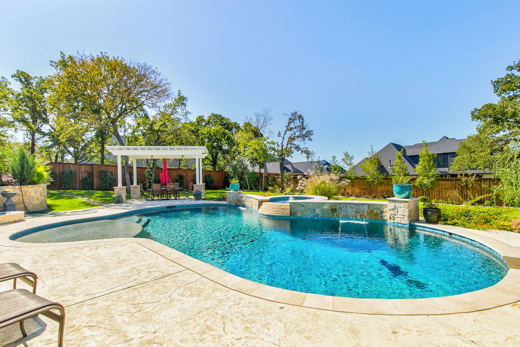 Single Family Homes for Sale at Sunsets By the Pool in Colleyville 6104 Legacy Estates Drive Colleyville, Texas 76034 United States