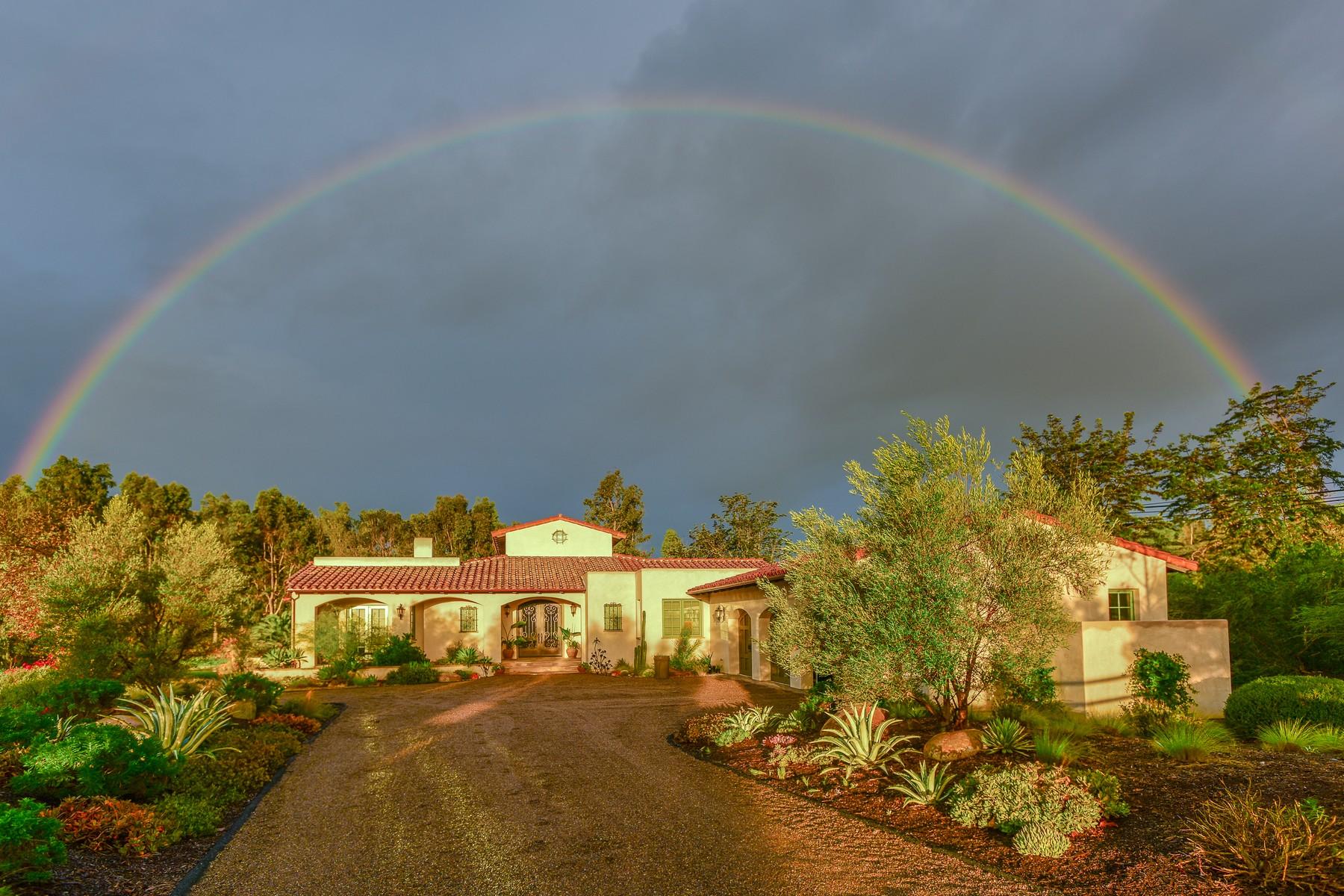 Casa Unifamiliar por un Venta en 7052 La Palma Rancho Santa Fe, California, 92067 Estados Unidos