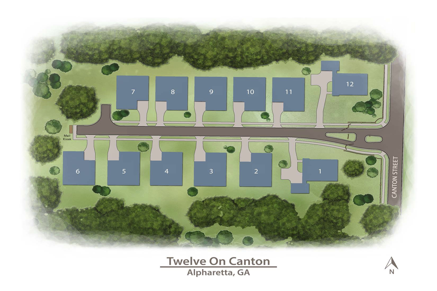 Single Family Home for Sale at Premier Gated Community in Alpharetta's Garden District 2155 Canton Vw Alpharetta, Georgia 30009 United States