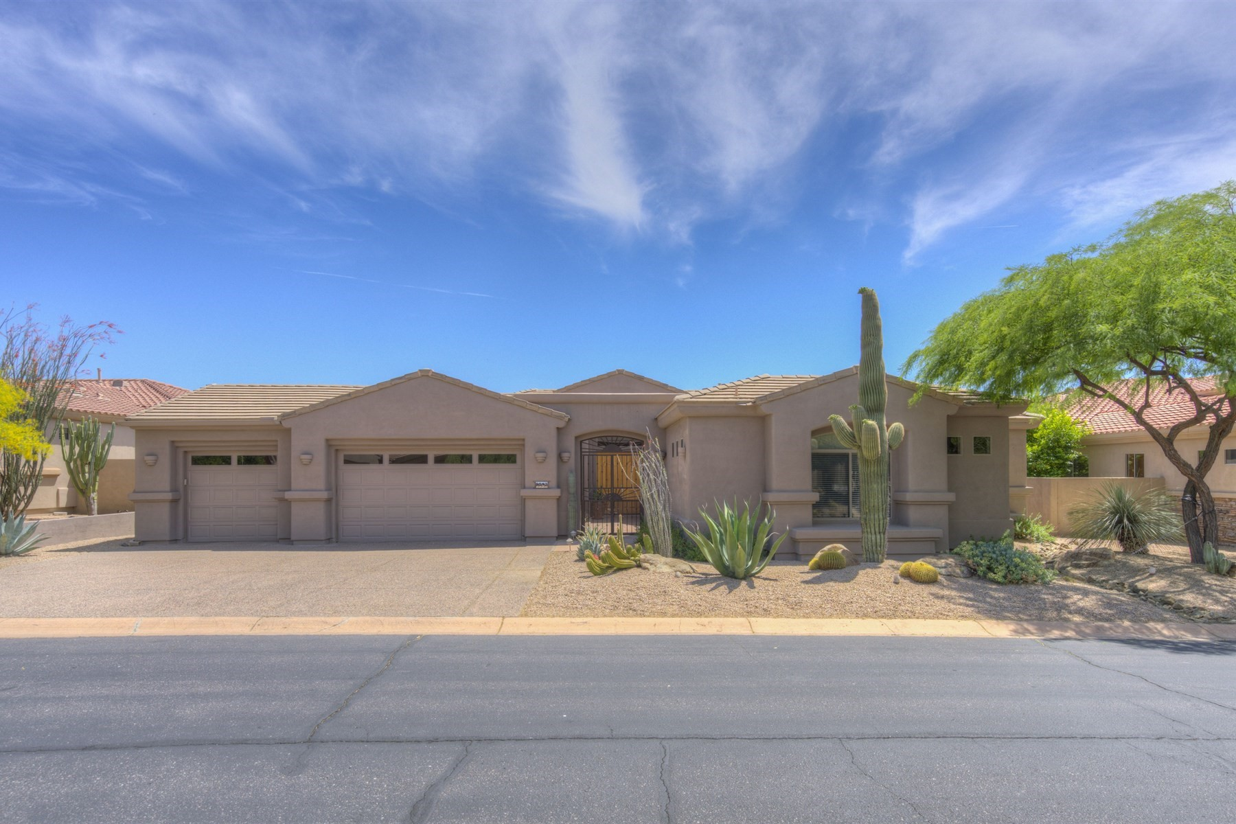Single Family Home for Sale at Spectacular home with sweeping views 9543 E Preserve Way Scottsdale, Arizona, 85262 United States