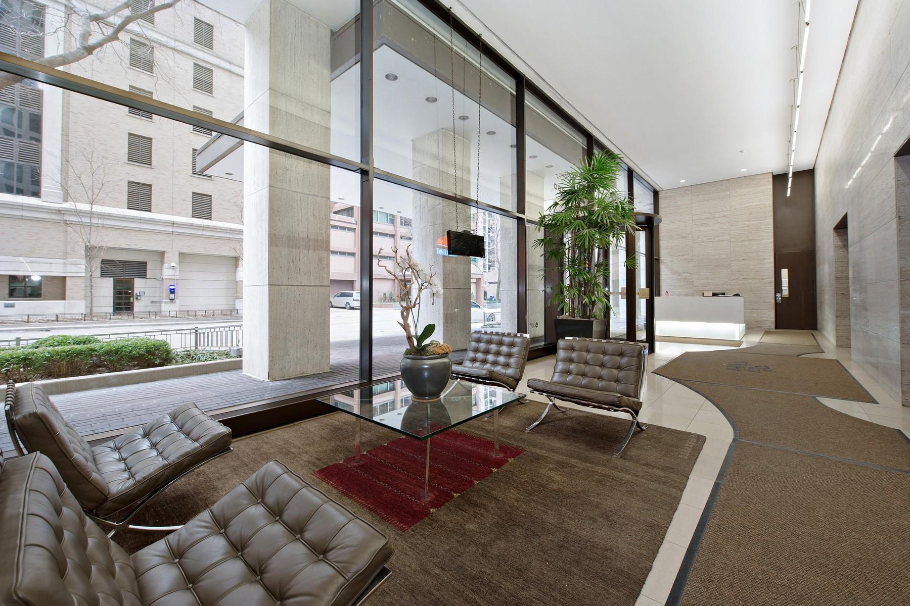 共管式独立产权公寓 为 销售 在 Luxurious Condo at The Plaza on DeWitt 260 E Chestnut Street Unit 1506, Near North Side, 芝加哥, 伊利诺斯州, 60611 美国