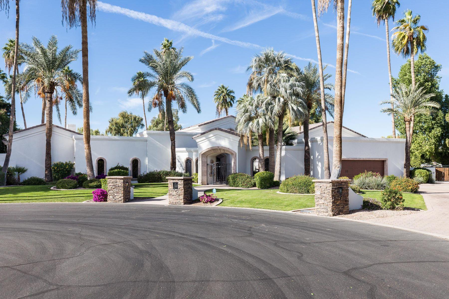 Частный односемейный дом для того Продажа на Paradise Valley home in Camelback Country Club Estates 4 8436 N Golf Dr, Paradise Valley, Аризона, 85253 Соединенные Штаты