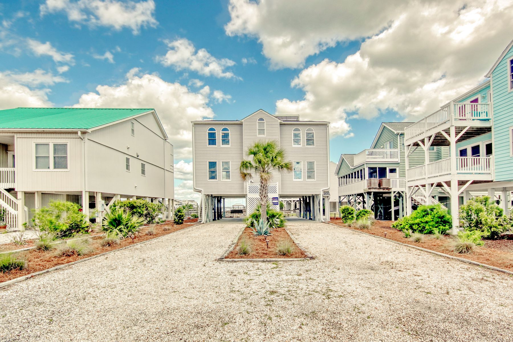Single Family Homes for Sale at Carolina Beach House With Panoramic Views 431 Cobia Street Sunset Beach, North Carolina 28468 United States