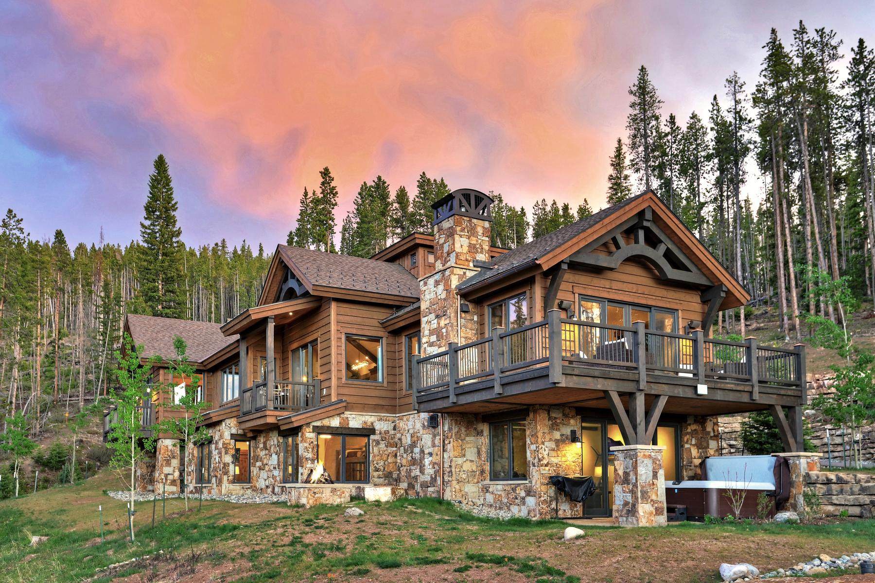 Single Family Home for Active at Custom Mountain Modern Estate 587 Discovery Hill Drive Breckenridge, Colorado 80424 United States