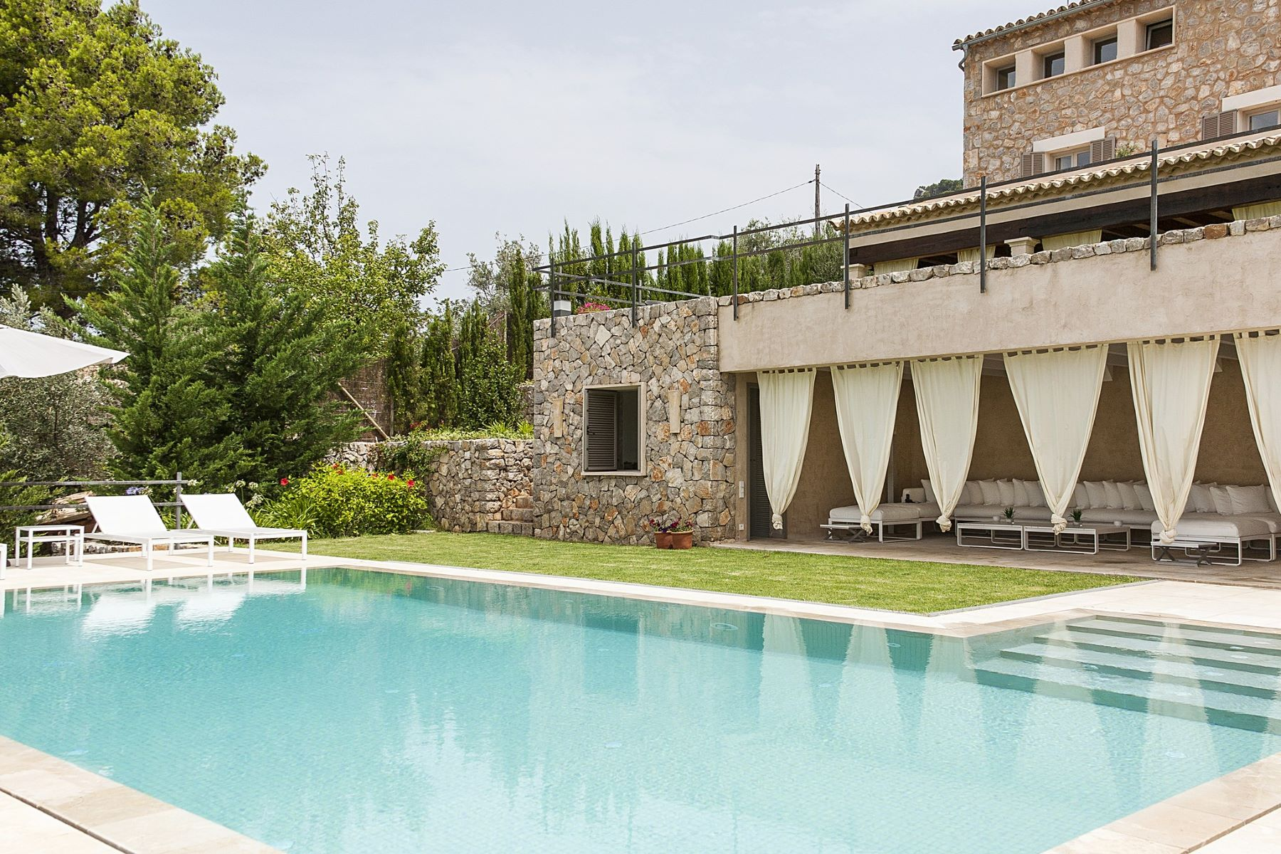 Single Family Homes for Sale at Exclusive stone house with sea views in Deia Deia, Balearic Islands Spain