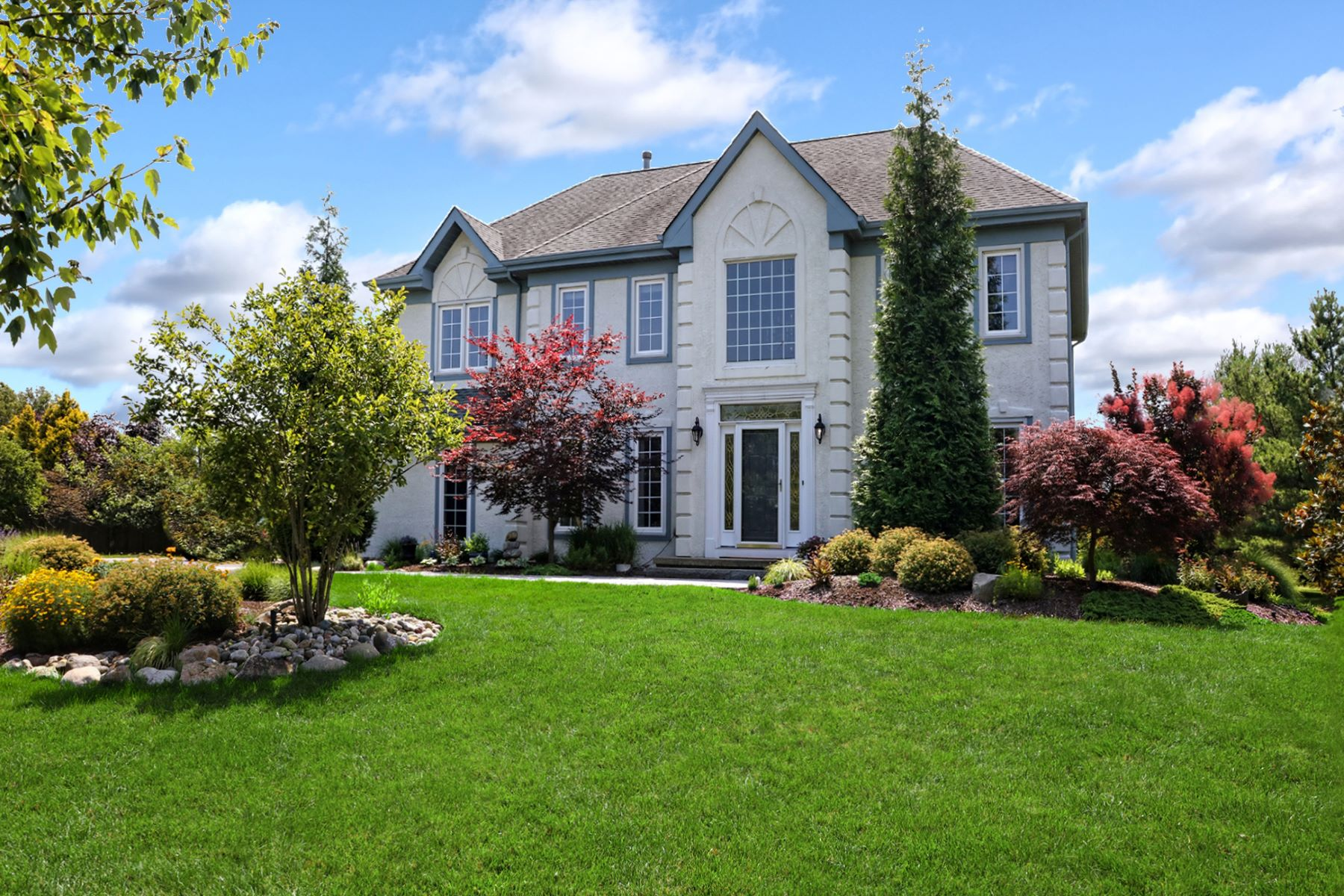 Single Family Homes for Sale at Perfectly Scaled and Detailed in Kings Point 73 Saratoga Drive, West Windsor, New Jersey 08550 United States