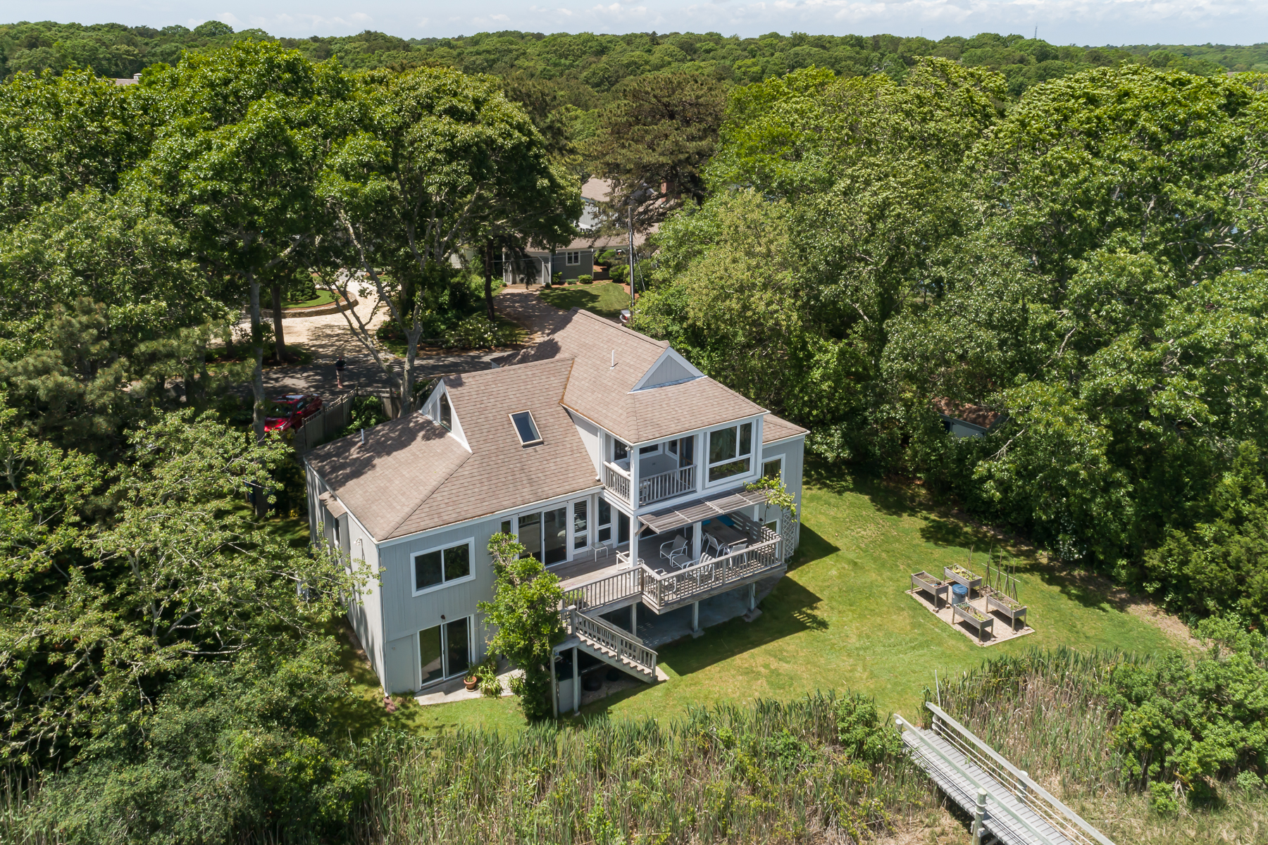 Single Family Homes for Active at ADORABLE HOME ON POPPONESSET CREEK 17 Bowsprit New Seabury, Massachusetts 02649 United States