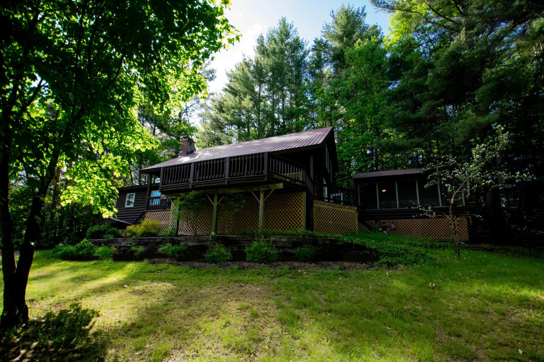 Single Family Homes for Sale at Cozy Log Home Beauty 29 Ordway La North Creek, New York 12853 United States