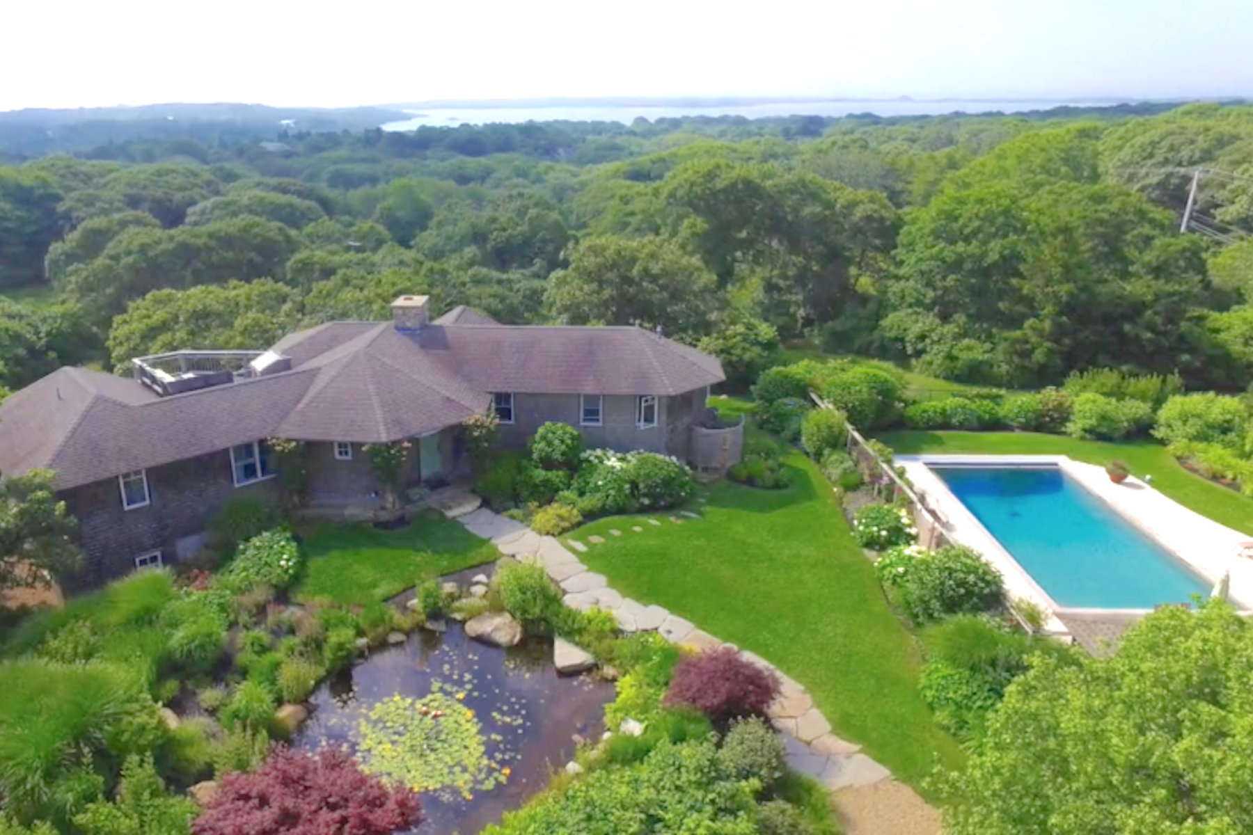 Single Family Home for Active at waterview home in Aquinnah with a pool 515 State Road Aquinnah, Massachusetts 02535 United States