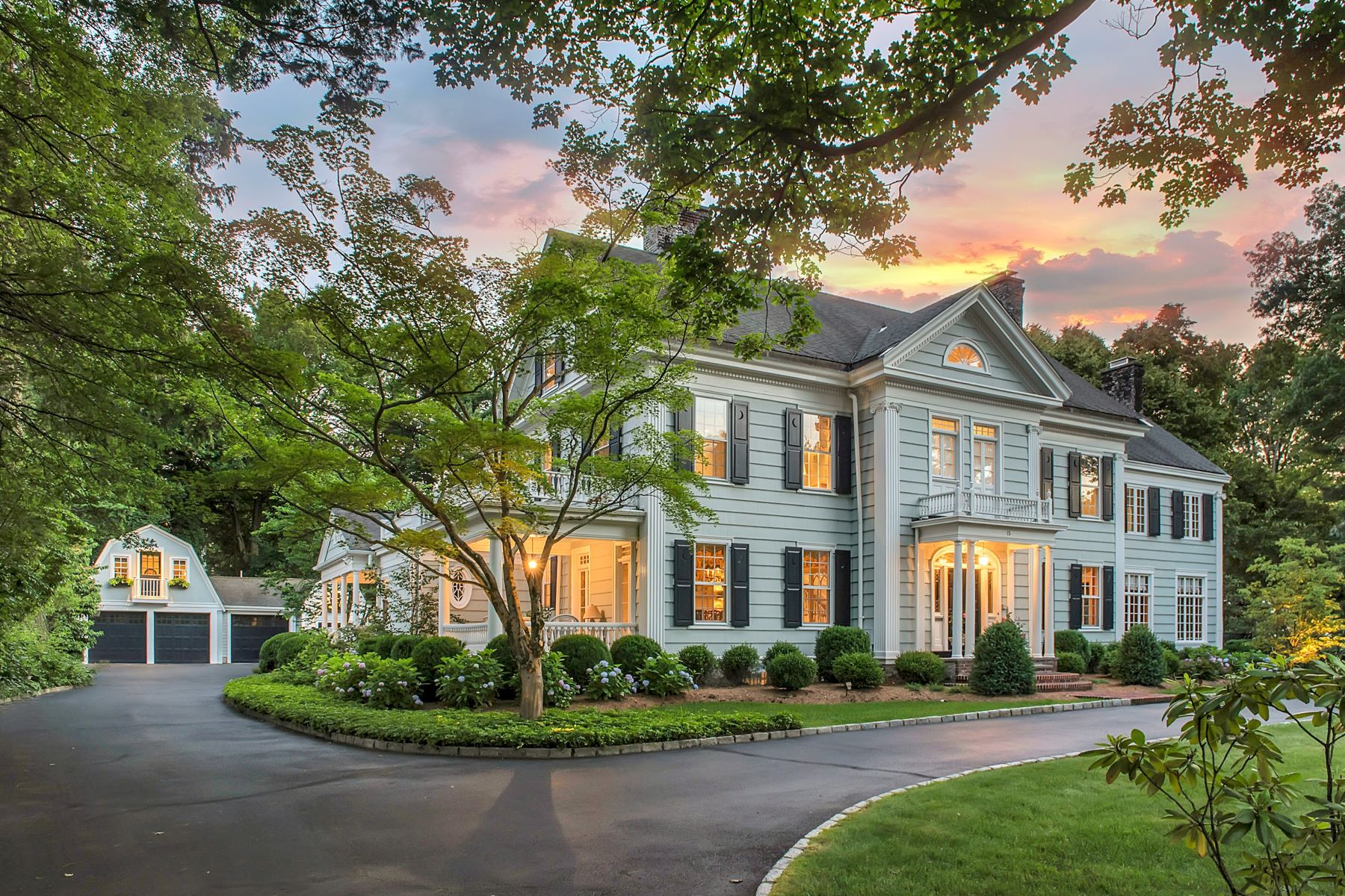Single Family Homes للـ Sale في Magnificent Georgian Colonial 15 Crescent Road, Madison, New Jersey 07940 United States