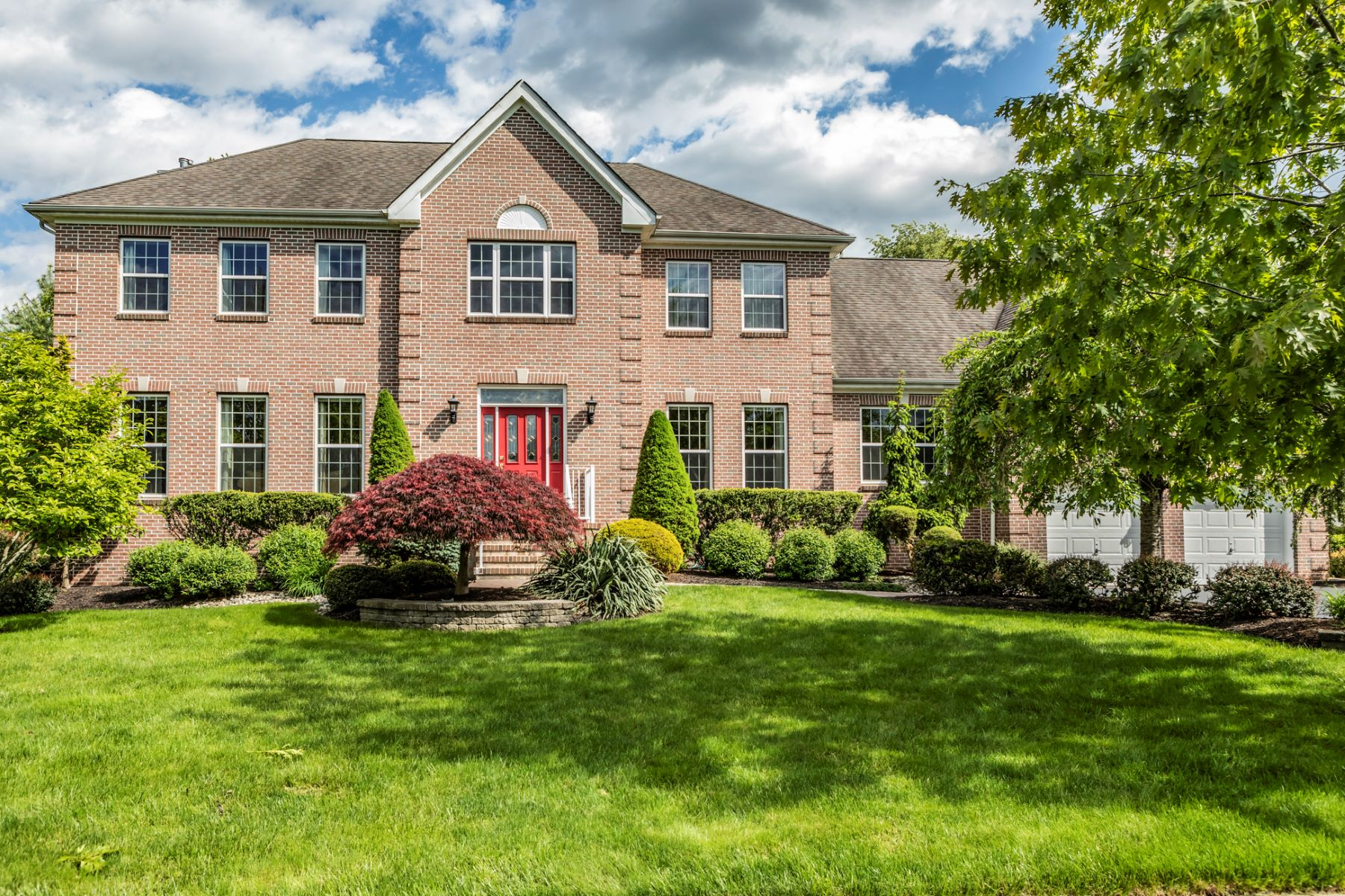 Single Family Home for Sale at Brick Front Colonial is Perfection 5 Mahogany Court, Plainsboro, New Jersey 08536 United States