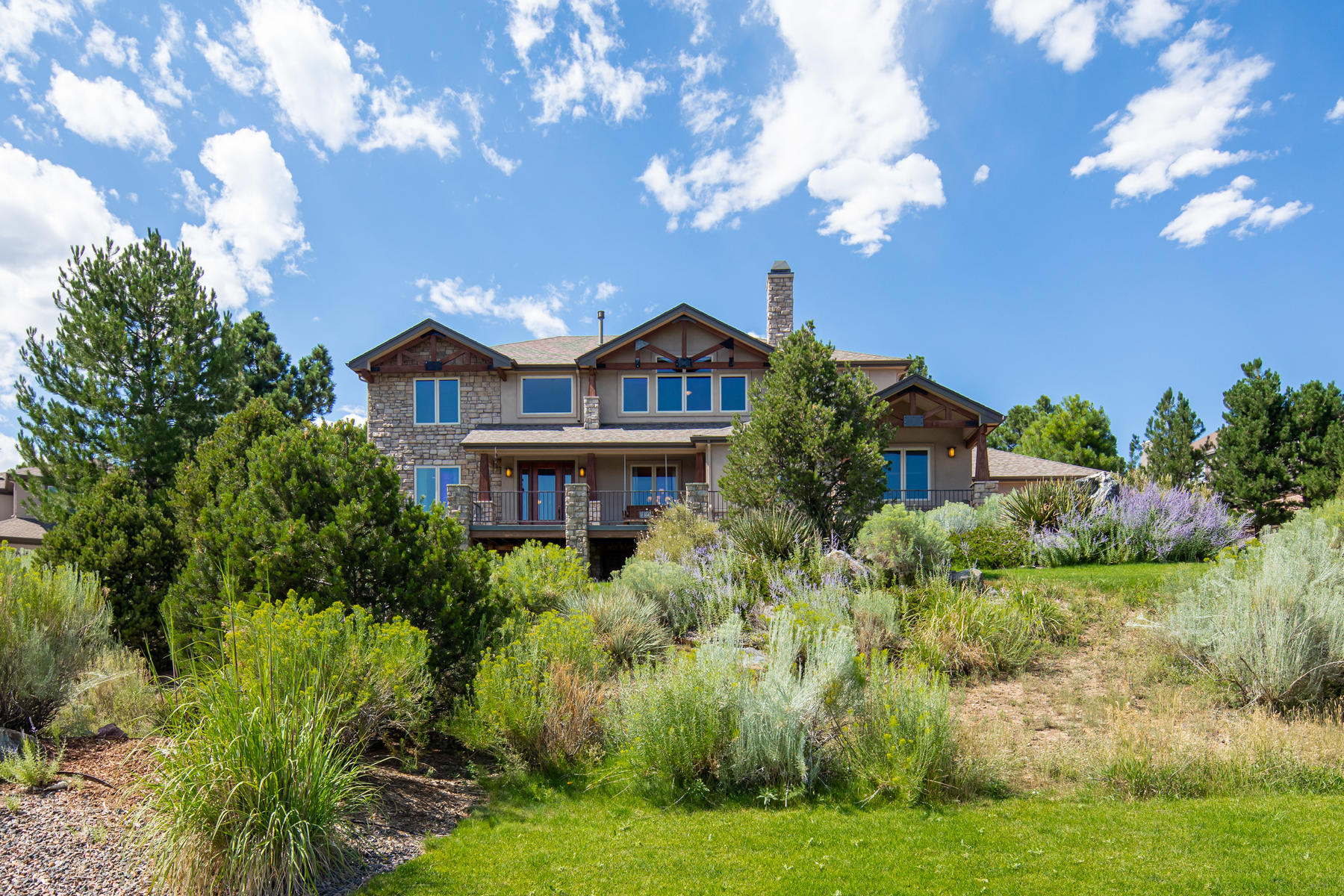 Single Family Homes for Sale at Exceptional Outdoor Living and Fabulous Mountain Views 5415 Sage Thrasher Rd Parker, Colorado 80134 United States