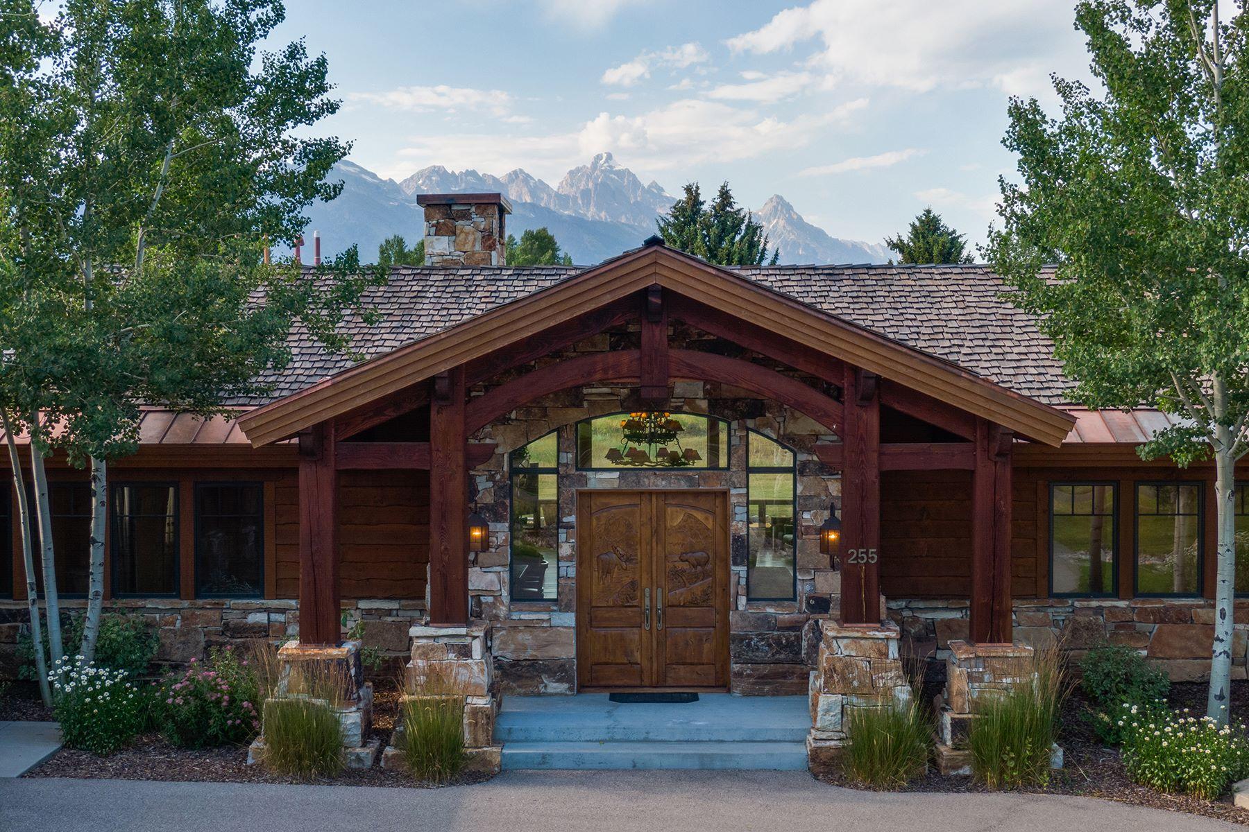 Single Family Homes pour l Vente à Teton Masterpiece 255 E Spruce Dr, Jackson, Wyoming 83001 États-Unis