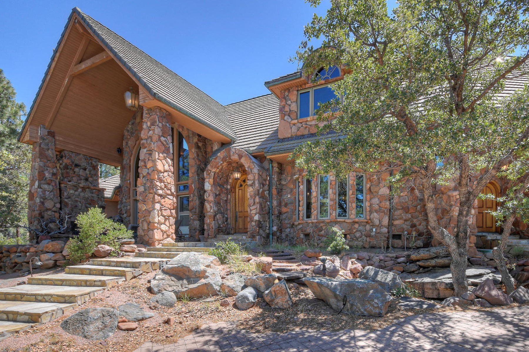 Single Family Homes for Sale at Private 50 Acre retreat in the the tall Ponderosa Pines near Payson 4773 N Walnut Ln Pine, Arizona 85544 United States