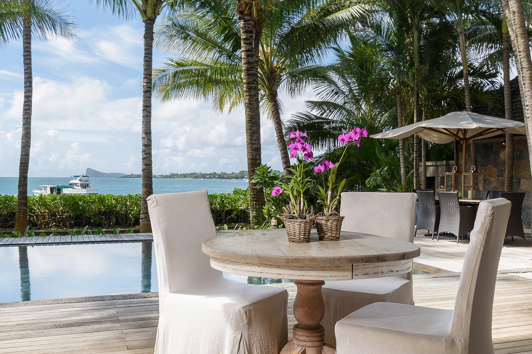 Single Family Home for Sale at Oceanfront Luxury Villa with Tropical surrounds Grand Baie, Riviere Du Rempart, Mauritius