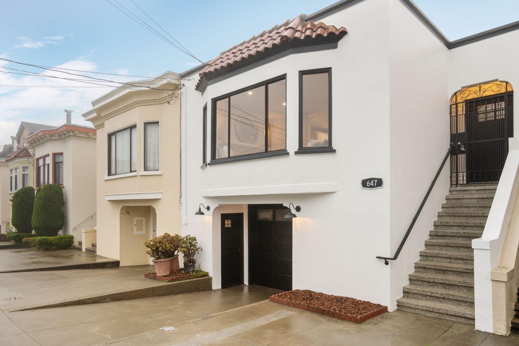 Single Family Homes for Active at Striking Marina-Style San Francisco Home 647 34th Avenue San Francisco, California 94121 United States