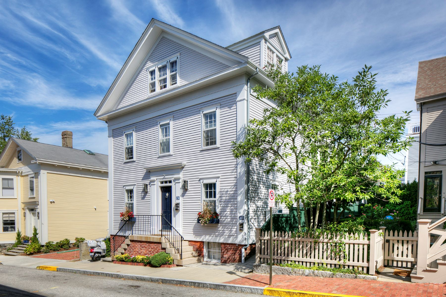 Multi-Family Homes for Sale at Greek Revival with Legal Apartment 28 30 John Street Newport, Rhode Island 02840 United States