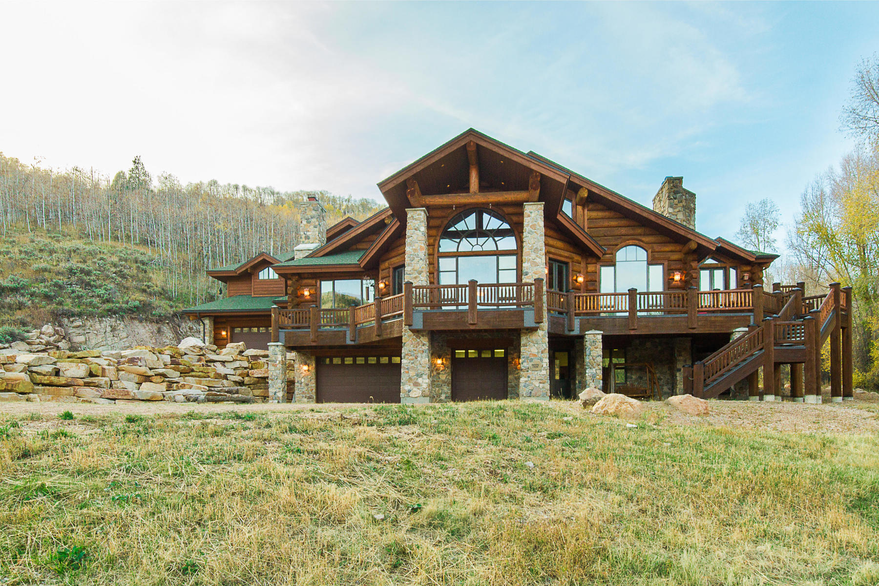 Single Family Home for Sale at Amazing One of a Kind Log Home on 160 Acres! 3950 E Weber Canyon Rd Oakley, Utah 84055 United States