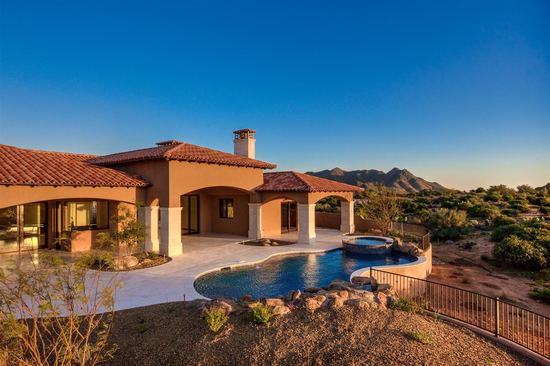 Nhà ở một gia đình vì Bán tại Completed custom Scottsdale home in Collina E Vista 11704 E Diamond Cholla Dr Scottsdale, Arizona, 85255 Hoa Kỳ
