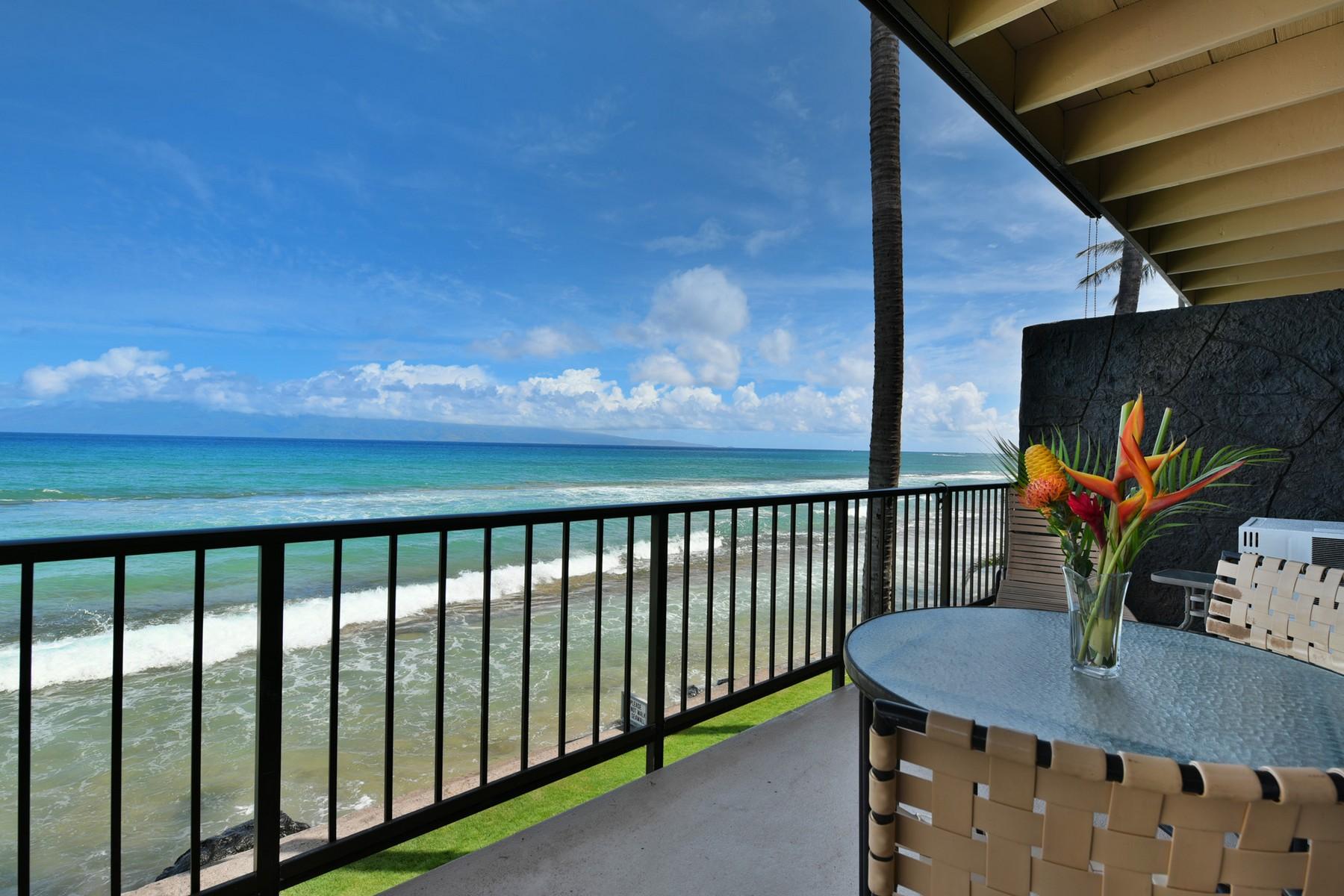 Condomínio para Venda às Stunning Ocean Front View 3559 Lower Honoapiilani Road, Maui Sands 4H Honokowai, Havaí, 96761 Estados Unidos