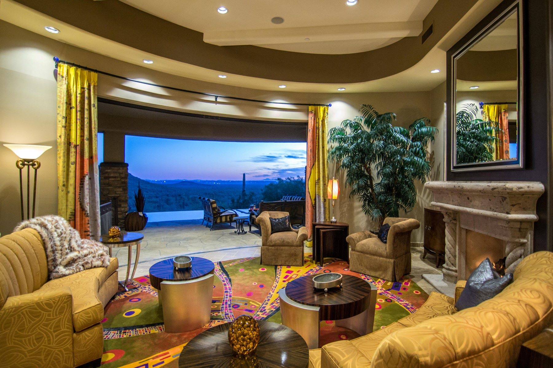 Single Family Home for Sale at Spectacular custom home in the prestigious gated community at Eagle Mountain 9025 N Flying Butte Fountain Hills, Arizona, 85268 United States