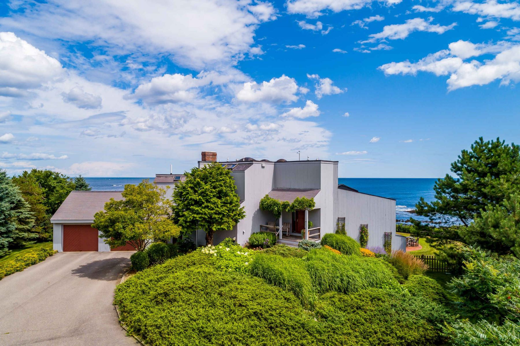 Single Family Homes for Sale at Oceanfront Contemporary with Bold Ocean Views 40 Lock Lane, York, Maine 03909 United States