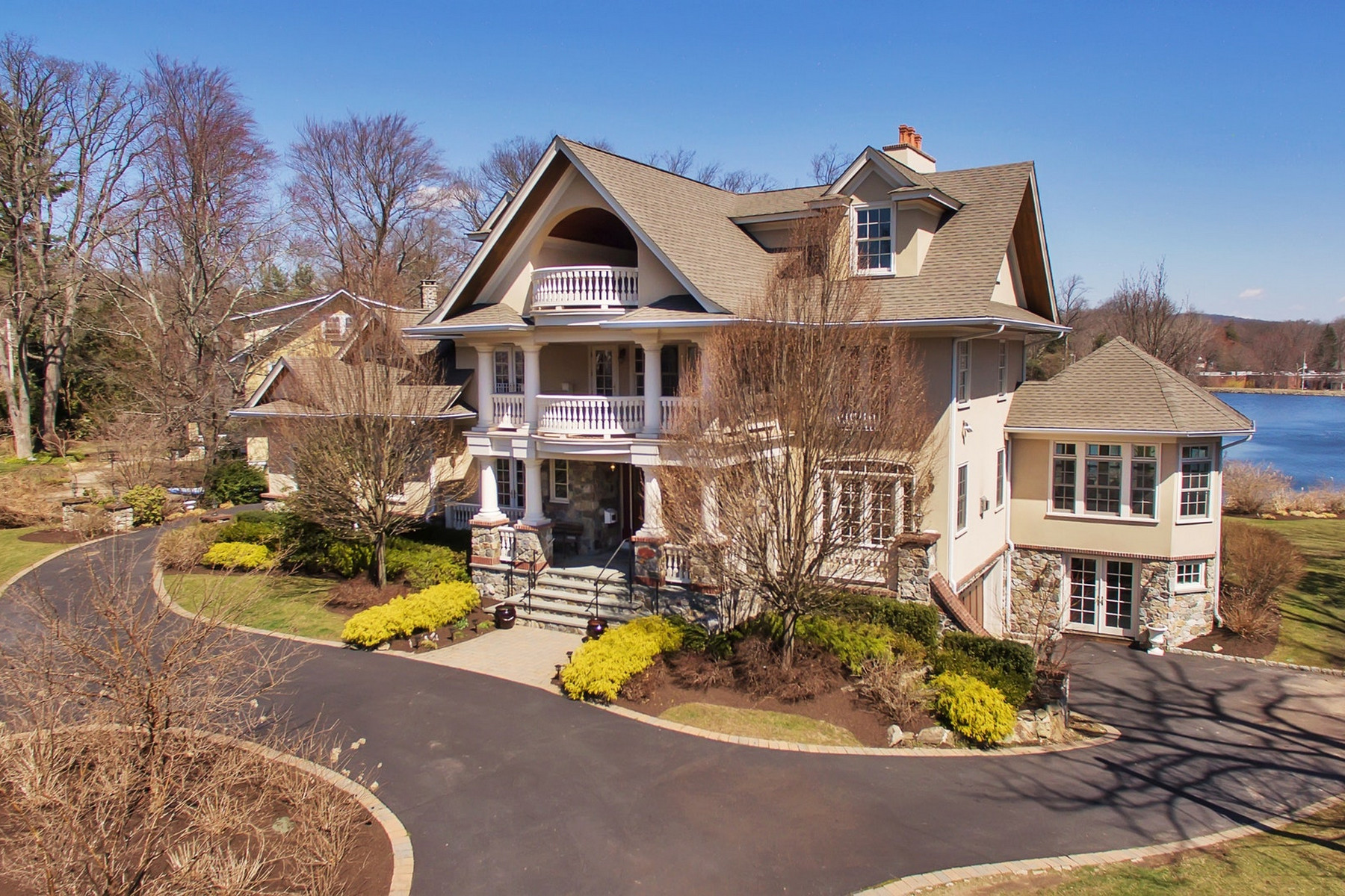 Single Family Homes for Sale at Luxury Lakefront Living 49 Briarcliff Road Mountain Lakes, New Jersey 07046 United States